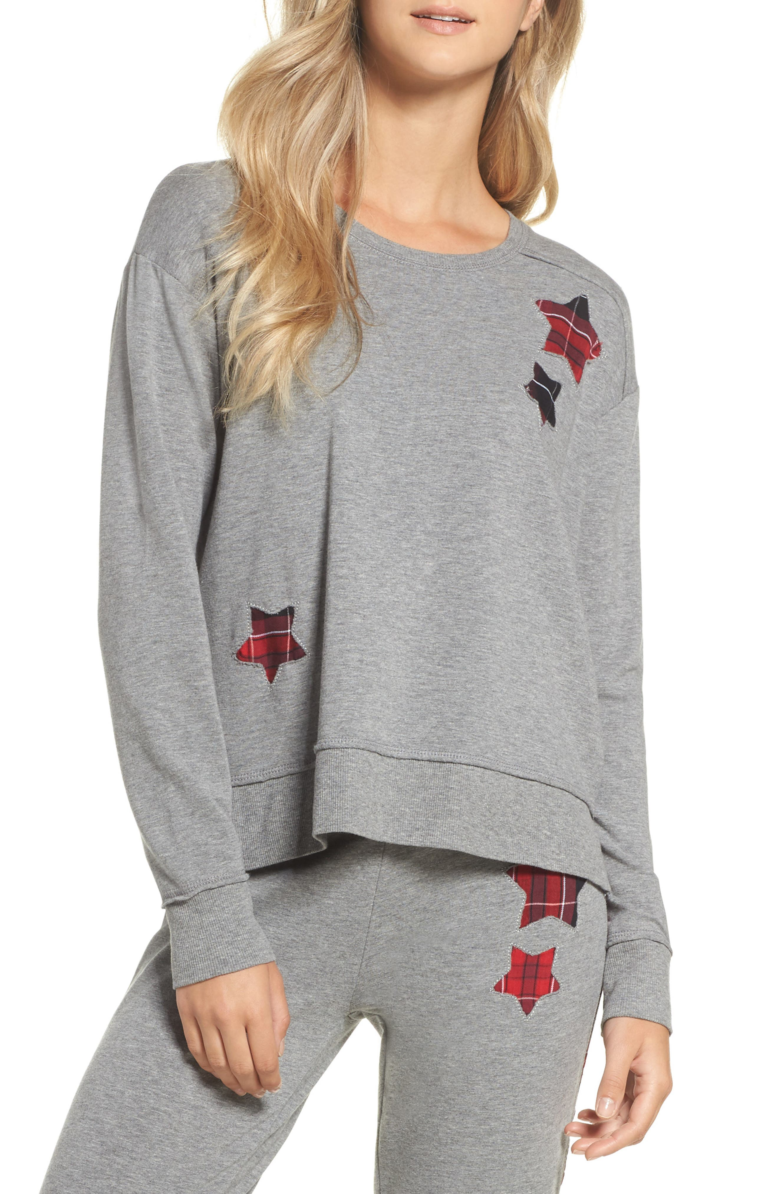 High/Low Sweatshirt,                         Main,                         color, Heather Grey