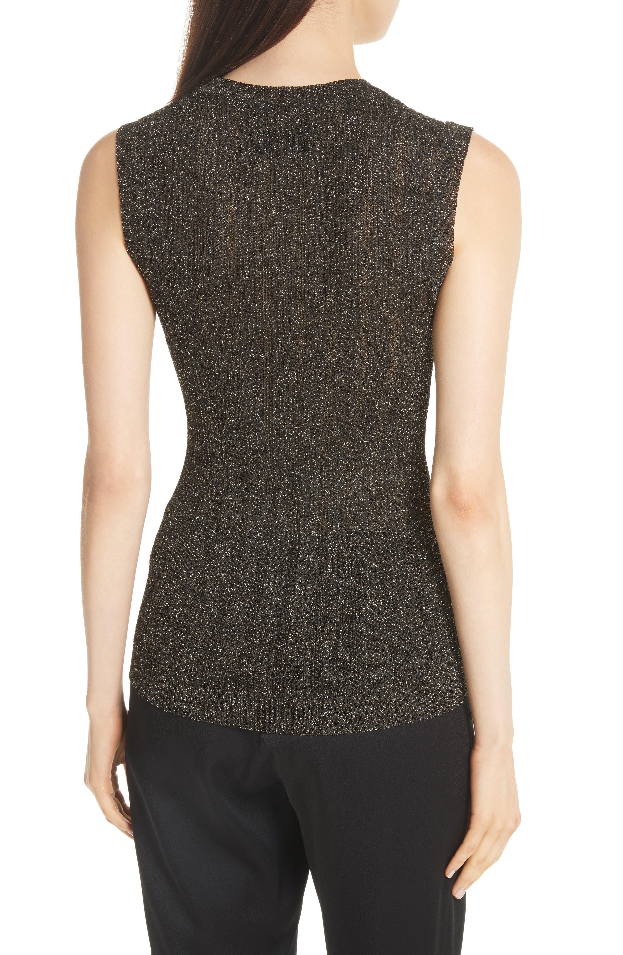 Alternate Image 3  - Nili Lotan Lace Metallic Knit Top