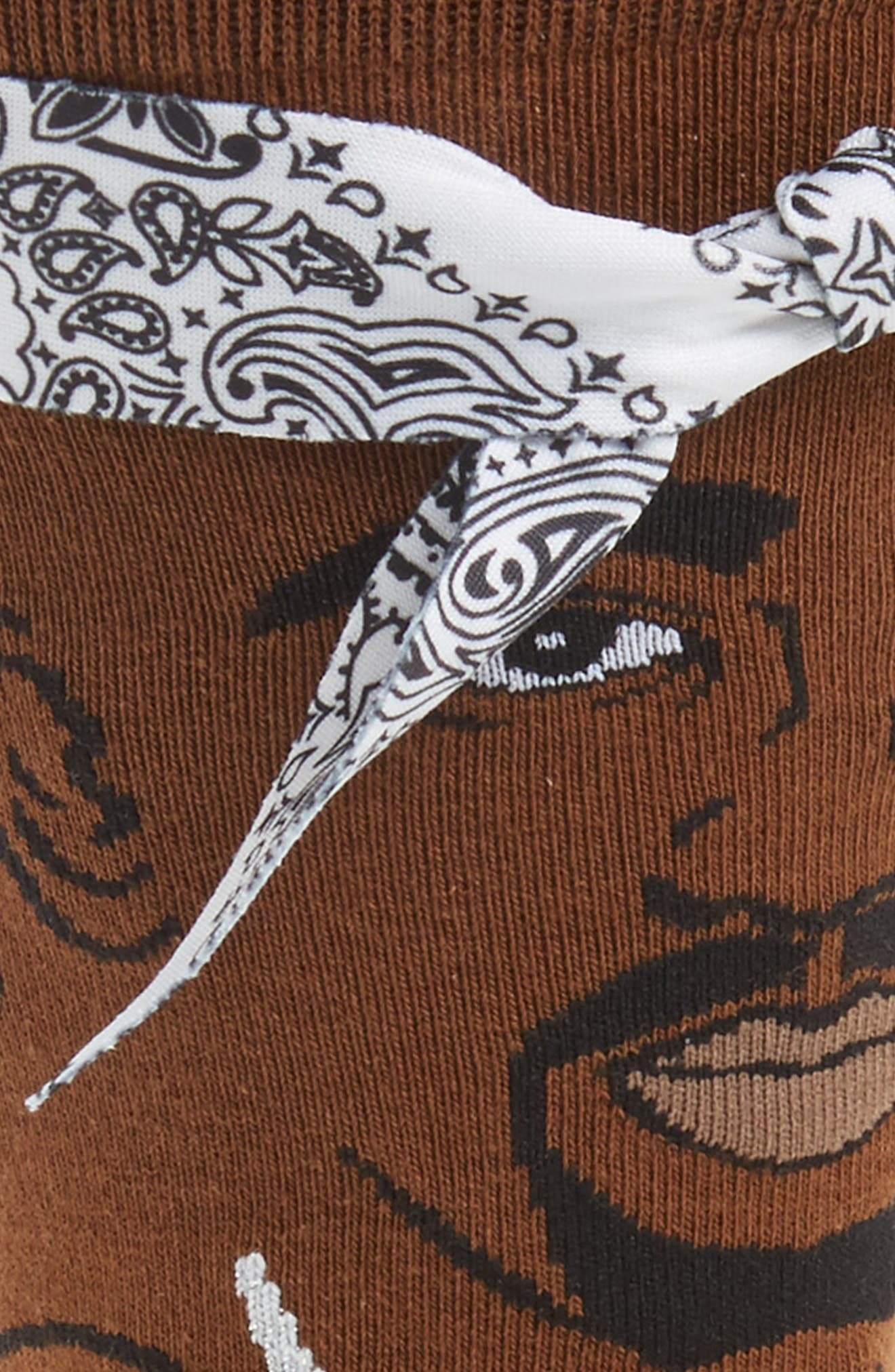 Tupac V2 Socks,                             Alternate thumbnail 2, color,                             Brown