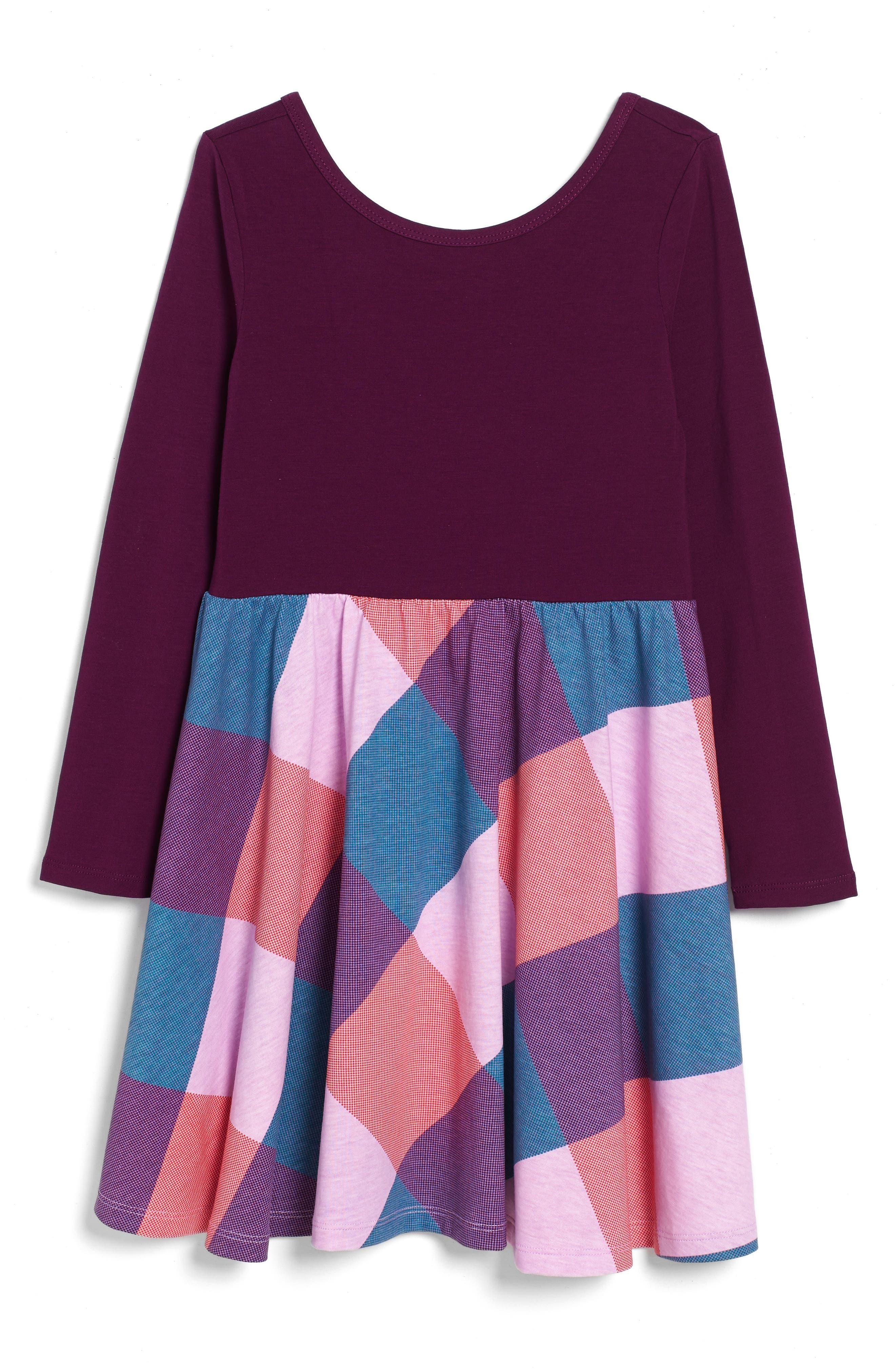Dahlia Skirted Dress,                         Main,                         color, Cosmic Berry