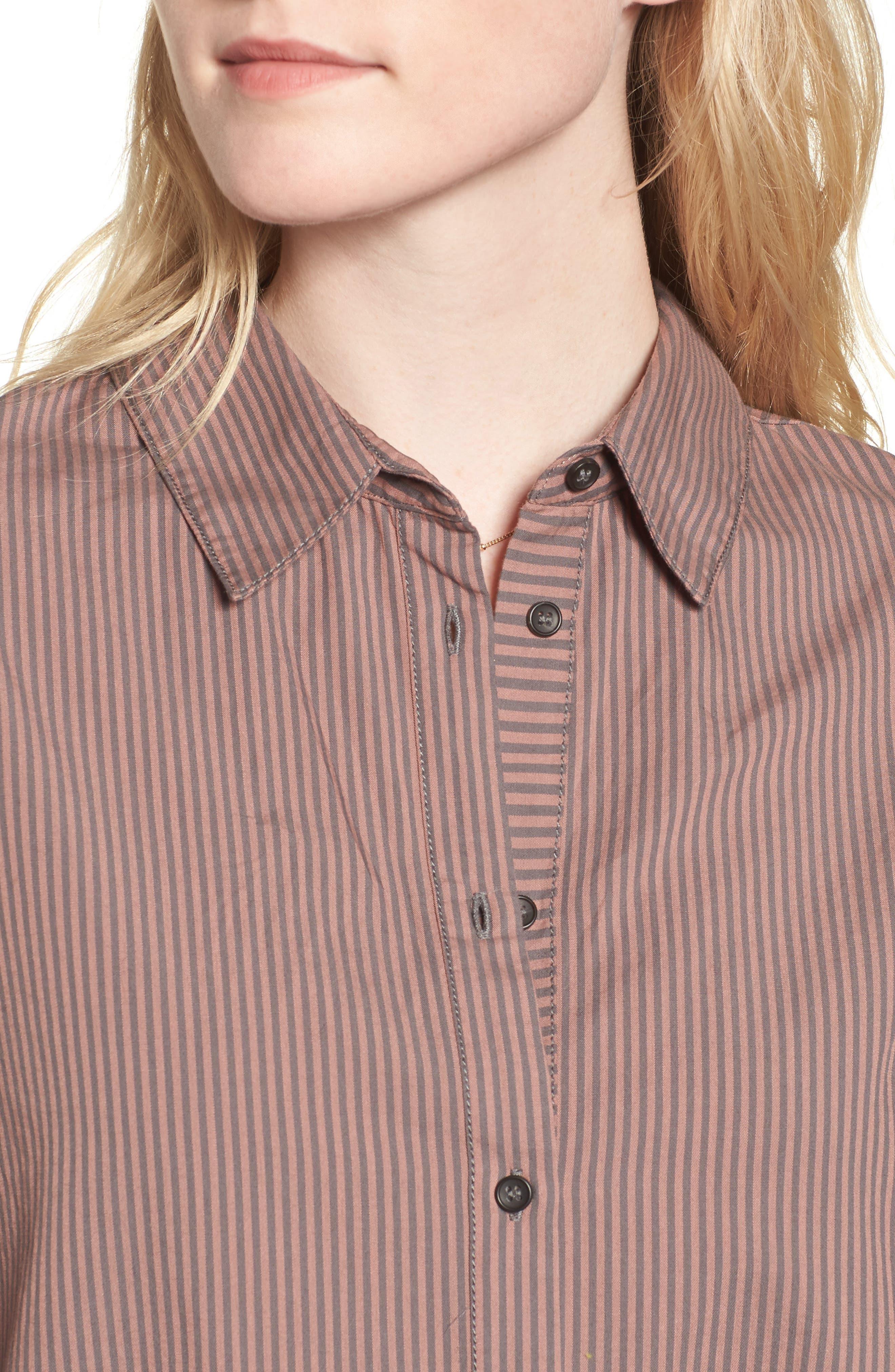 Lakehouse Oversize Shirt,                             Alternate thumbnail 4, color,                             Pink