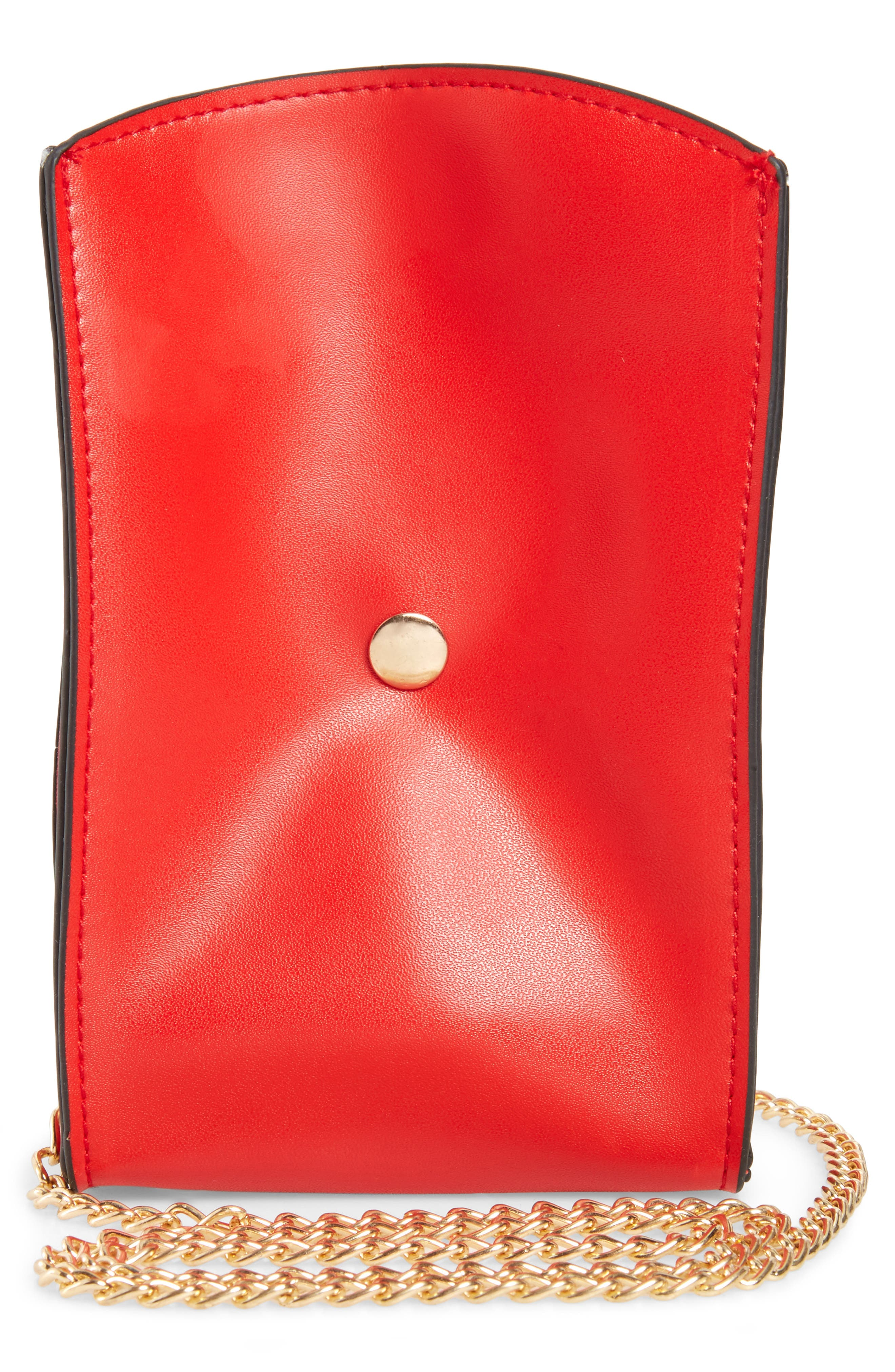 French Fries Faux Leather Bag,                             Alternate thumbnail 2, color,                             Red Combo