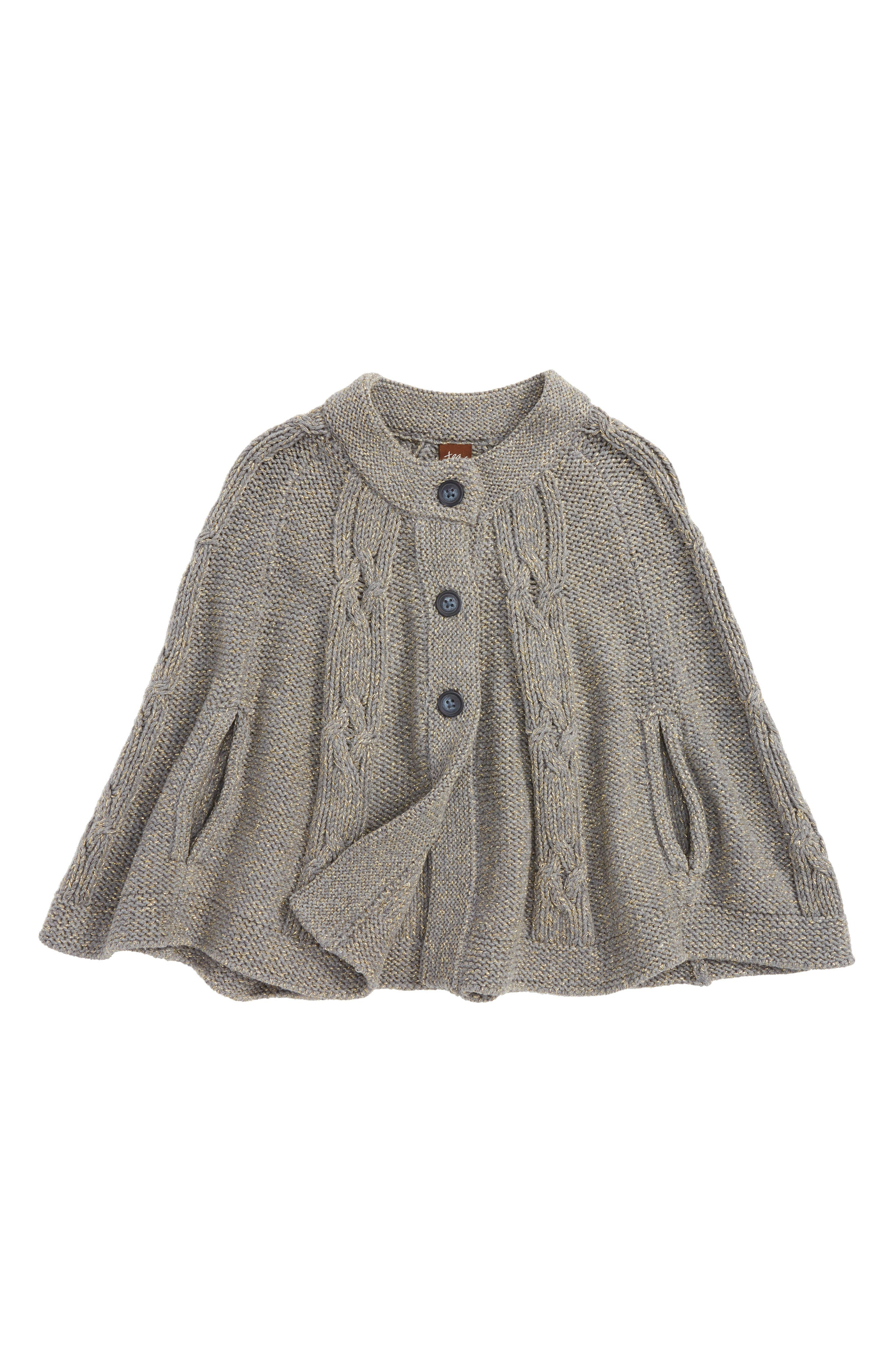 Isobel Sweater Cape,                         Main,                         color, Dark Grey Heather