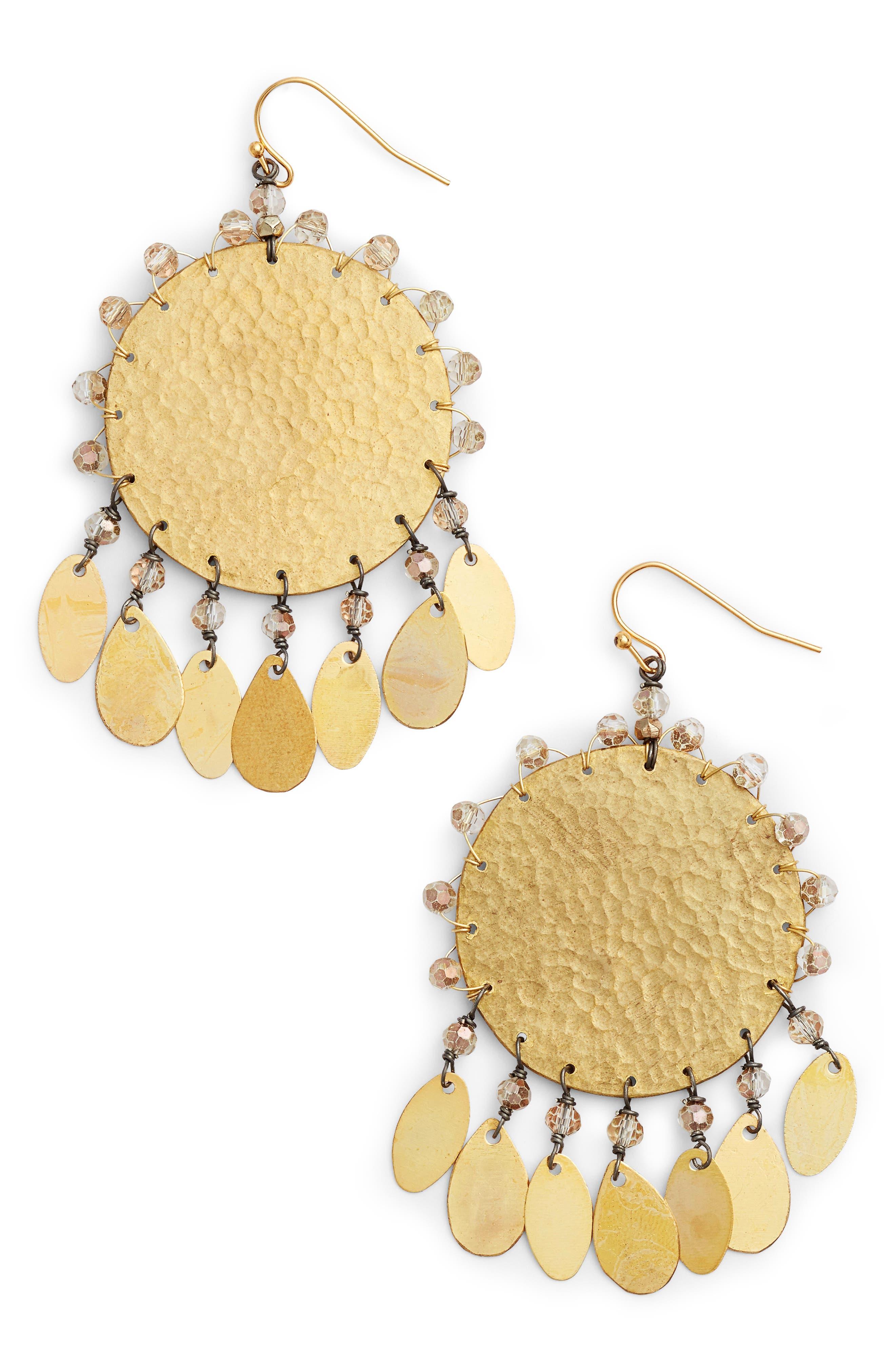 Nakamol Design Hammered Dangle Earrings