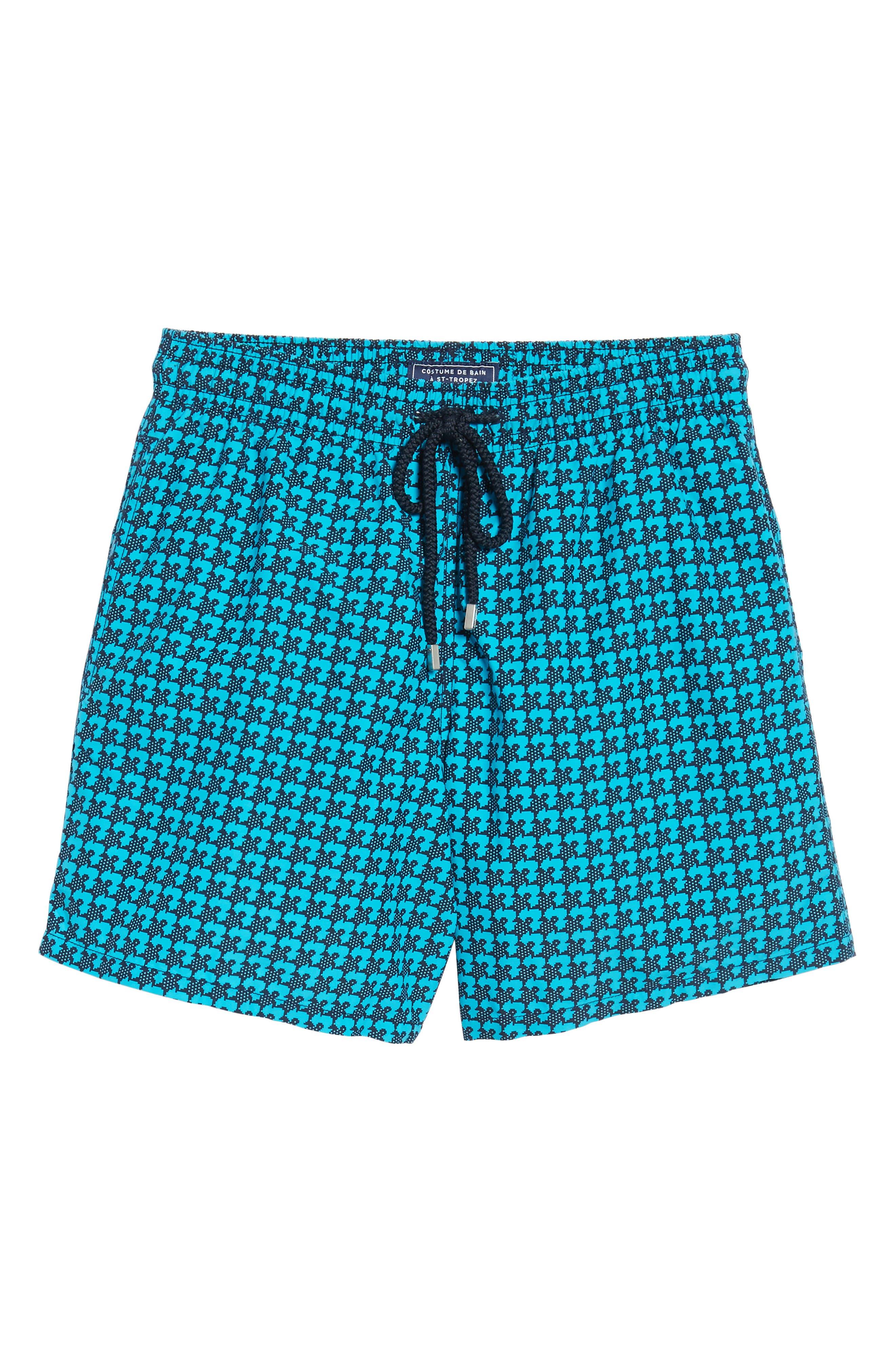 Moorea Baby Trop Swim Shorts,                             Alternate thumbnail 6, color,                             Azure