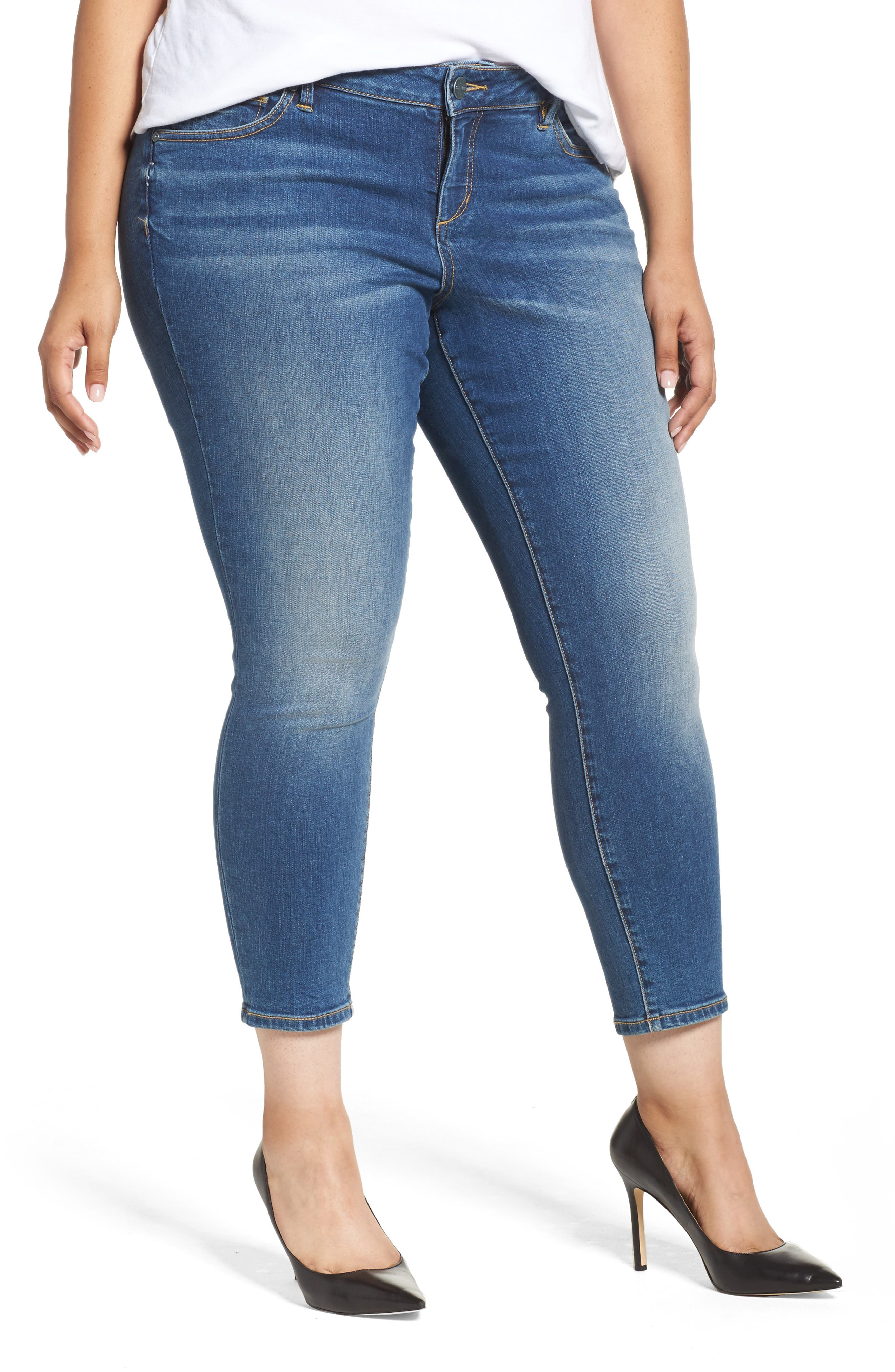 Skinny Ankle Jeans,                         Main,                         color, Birdy