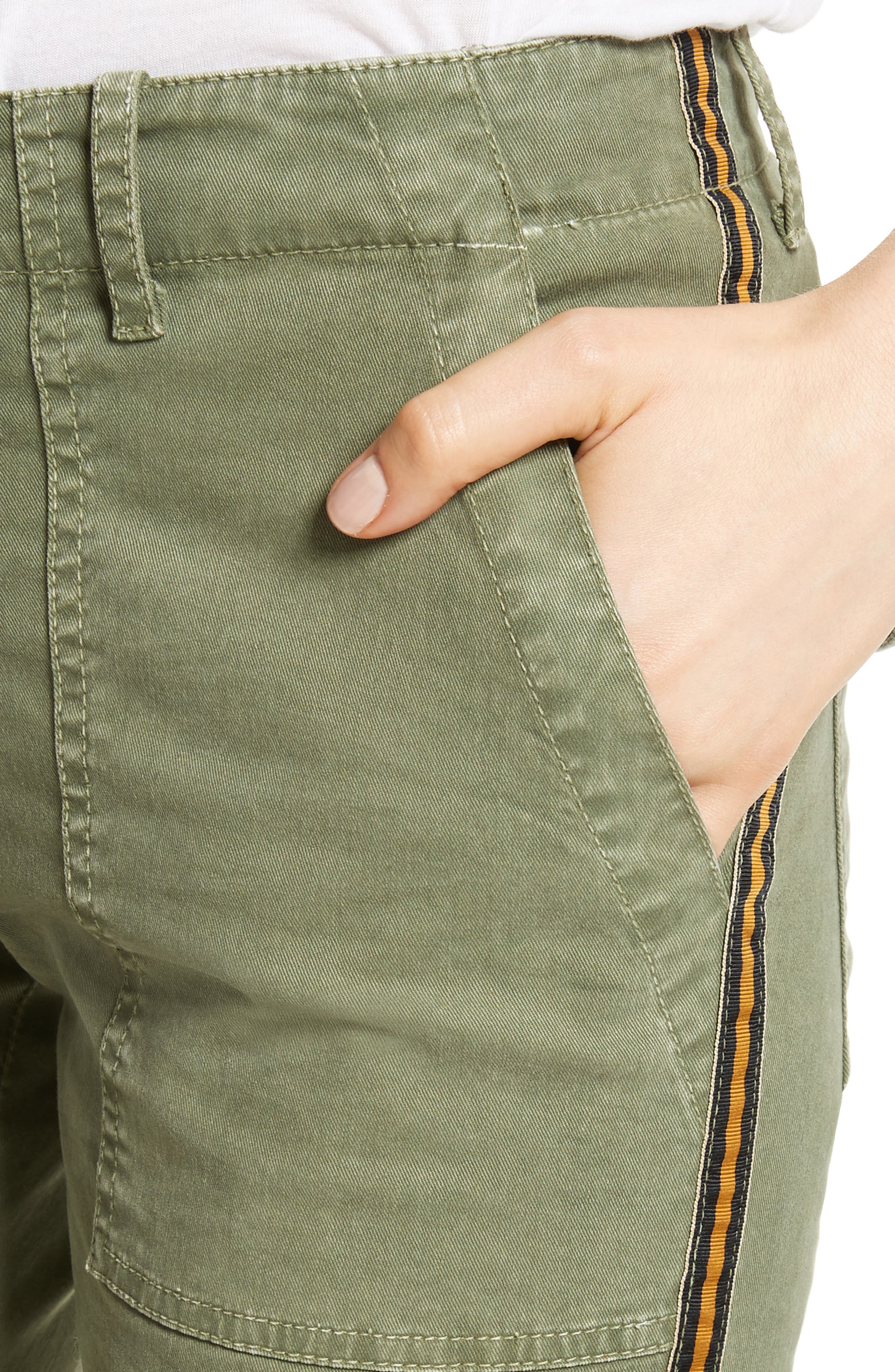 French Crop Military Pants,                             Alternate thumbnail 6, color,                             Camo