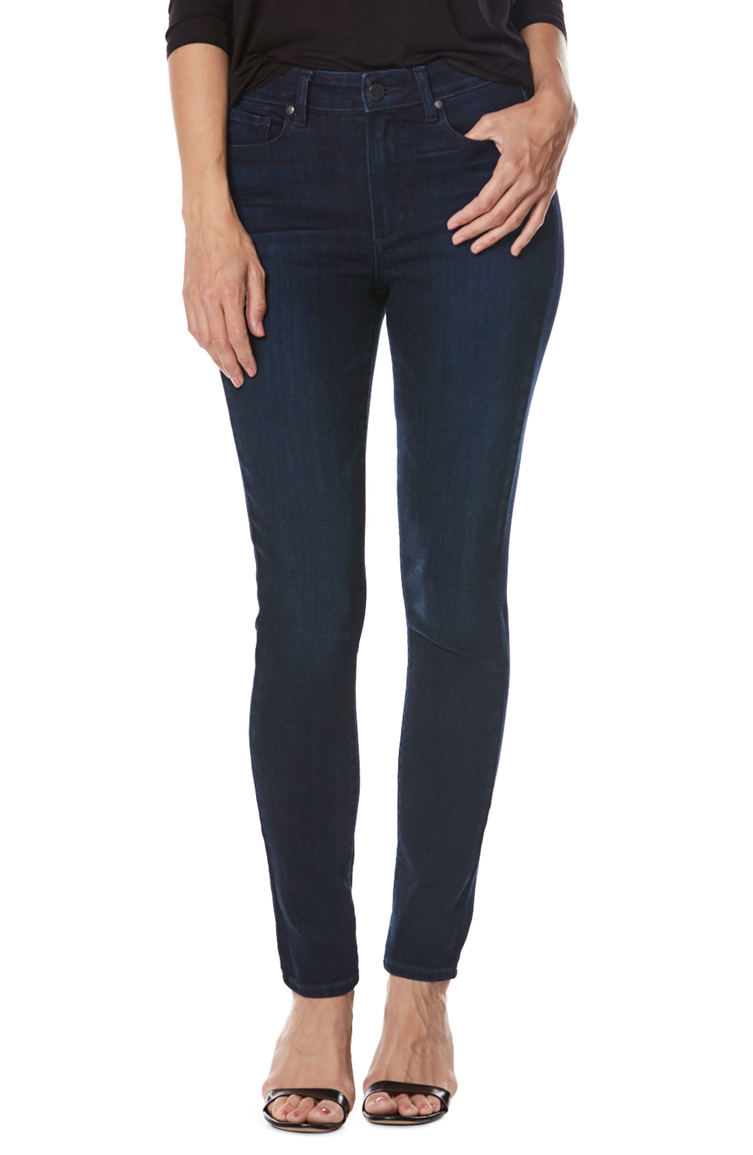 Transcend - Hoxton High Waist Ultra Skinny Jeans,                         Main,                         color, Surge