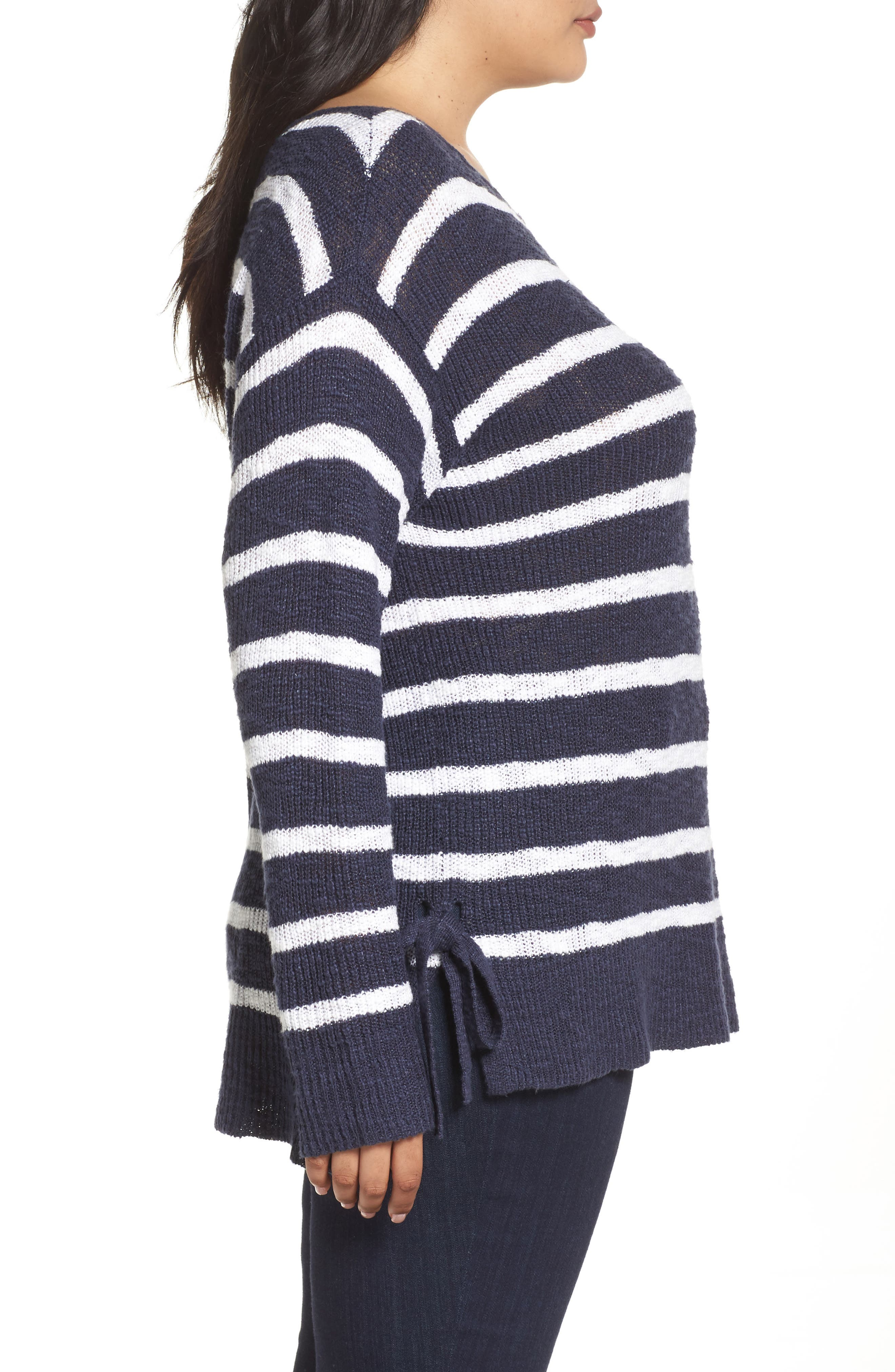 Alternate Image 3  - Caslon® Tunic Sweater with Side Ties (Plus Size)