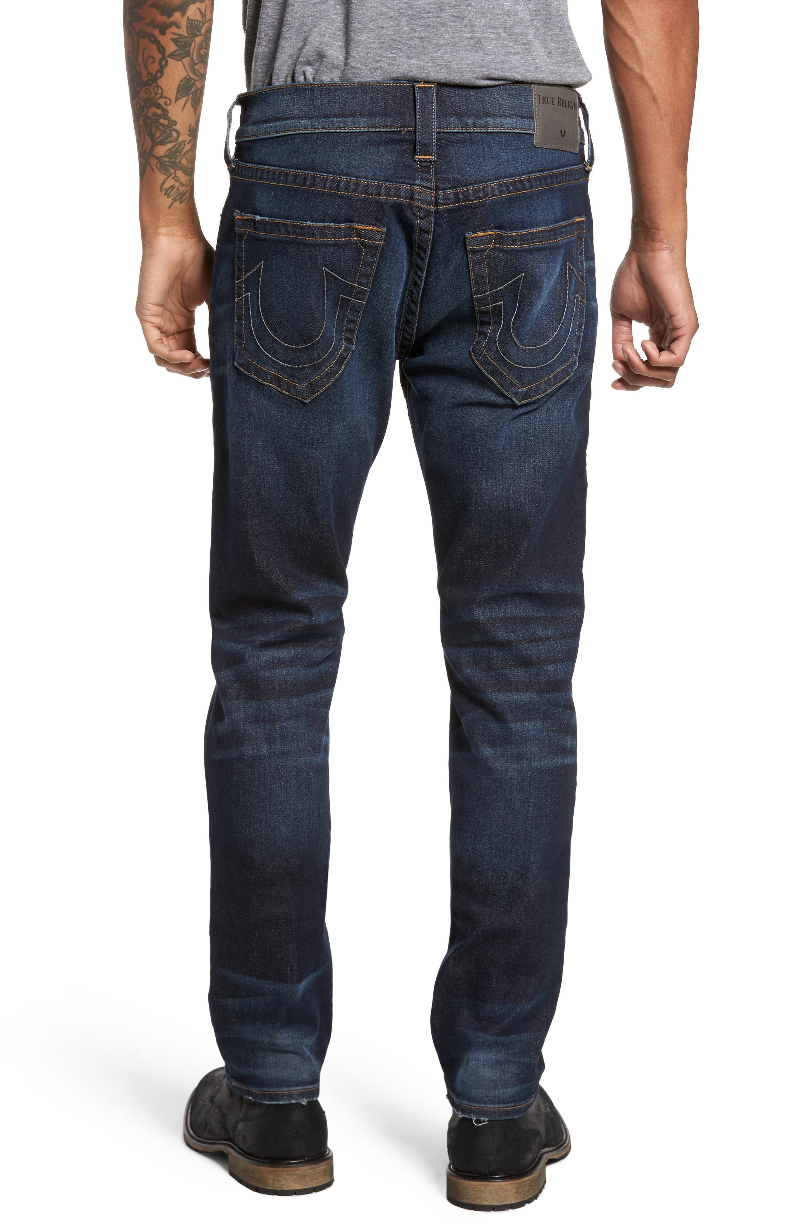 Rocco Skinny Fit Jeans,                             Alternate thumbnail 2, color,                             Dark Indigo Luxe