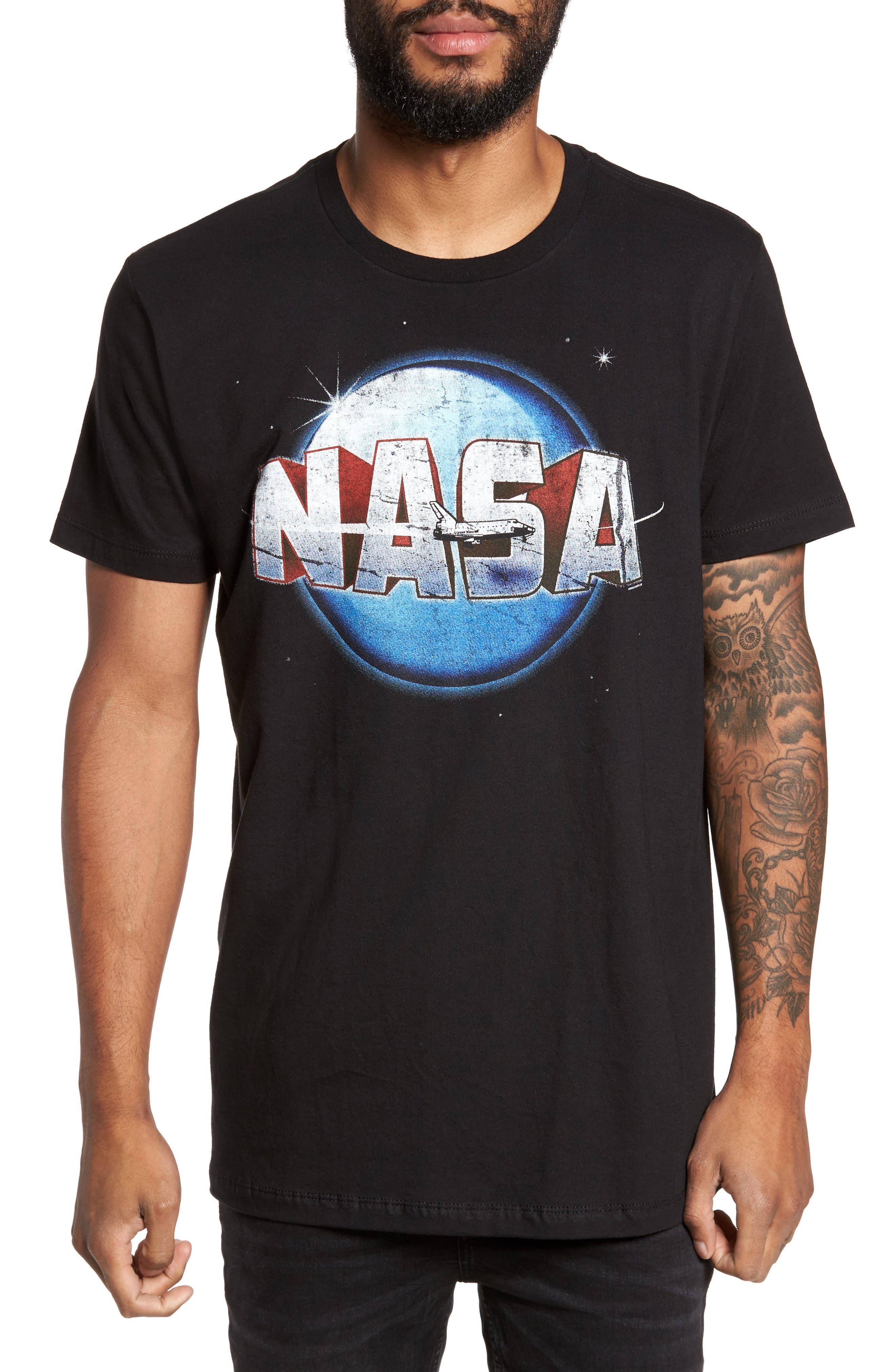 NASA Moon Graphic T-Shirt,                         Main,                         color, Black Nasa Moon
