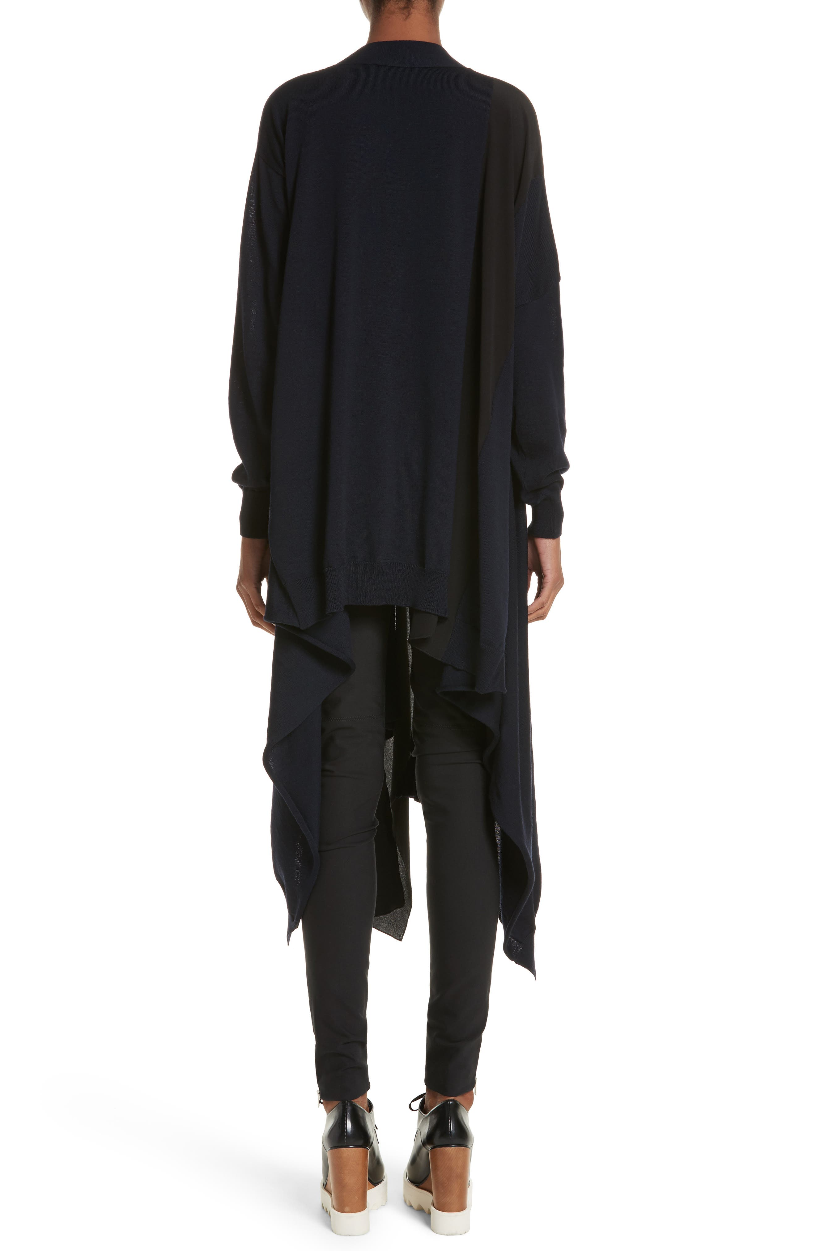 Alternate Image 2  - Stella McCartney Virgin Wool Cardigan with Silk Inset