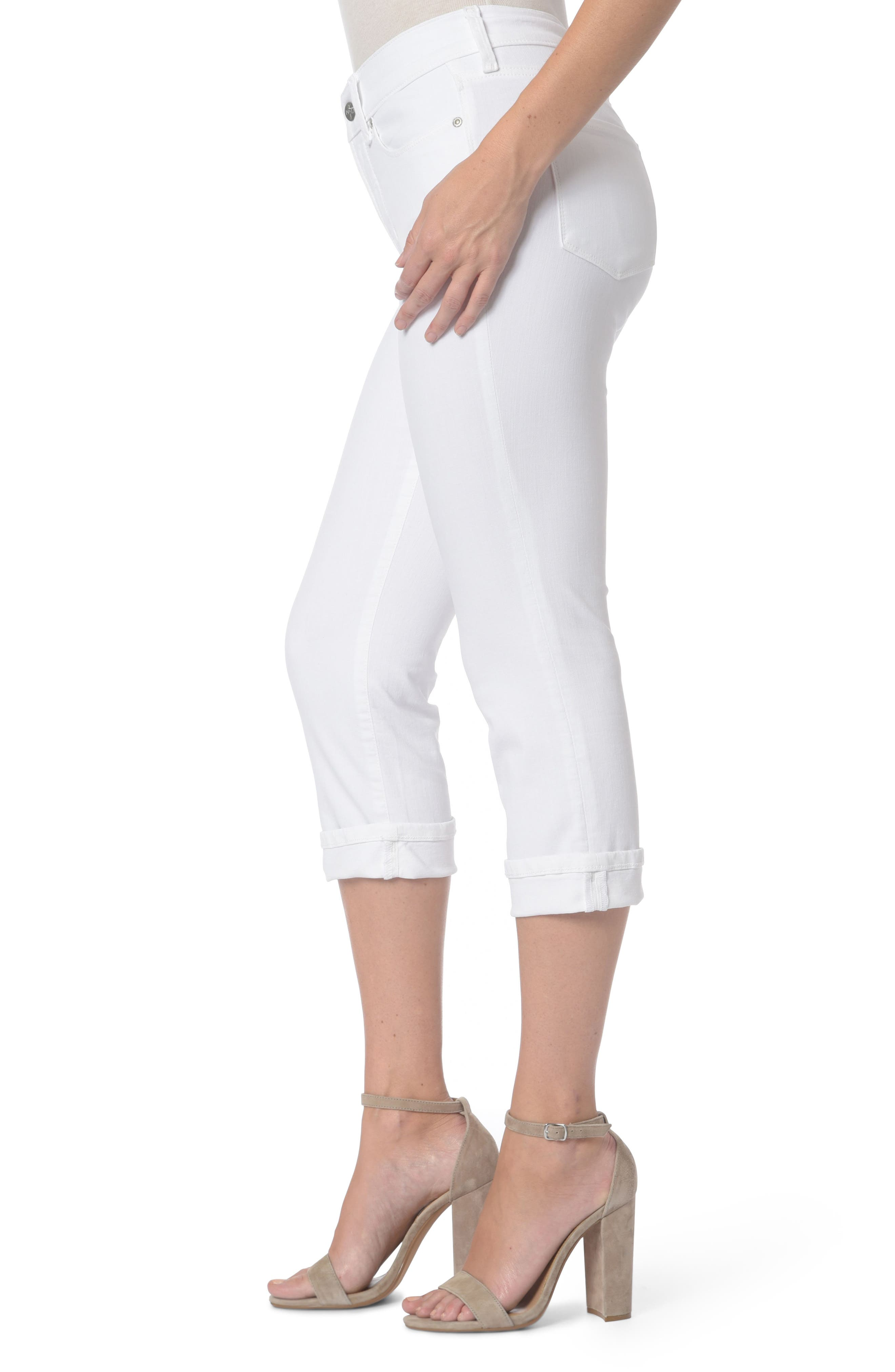 Marilyn Crop Jeans,                             Alternate thumbnail 3, color,                             Optic White