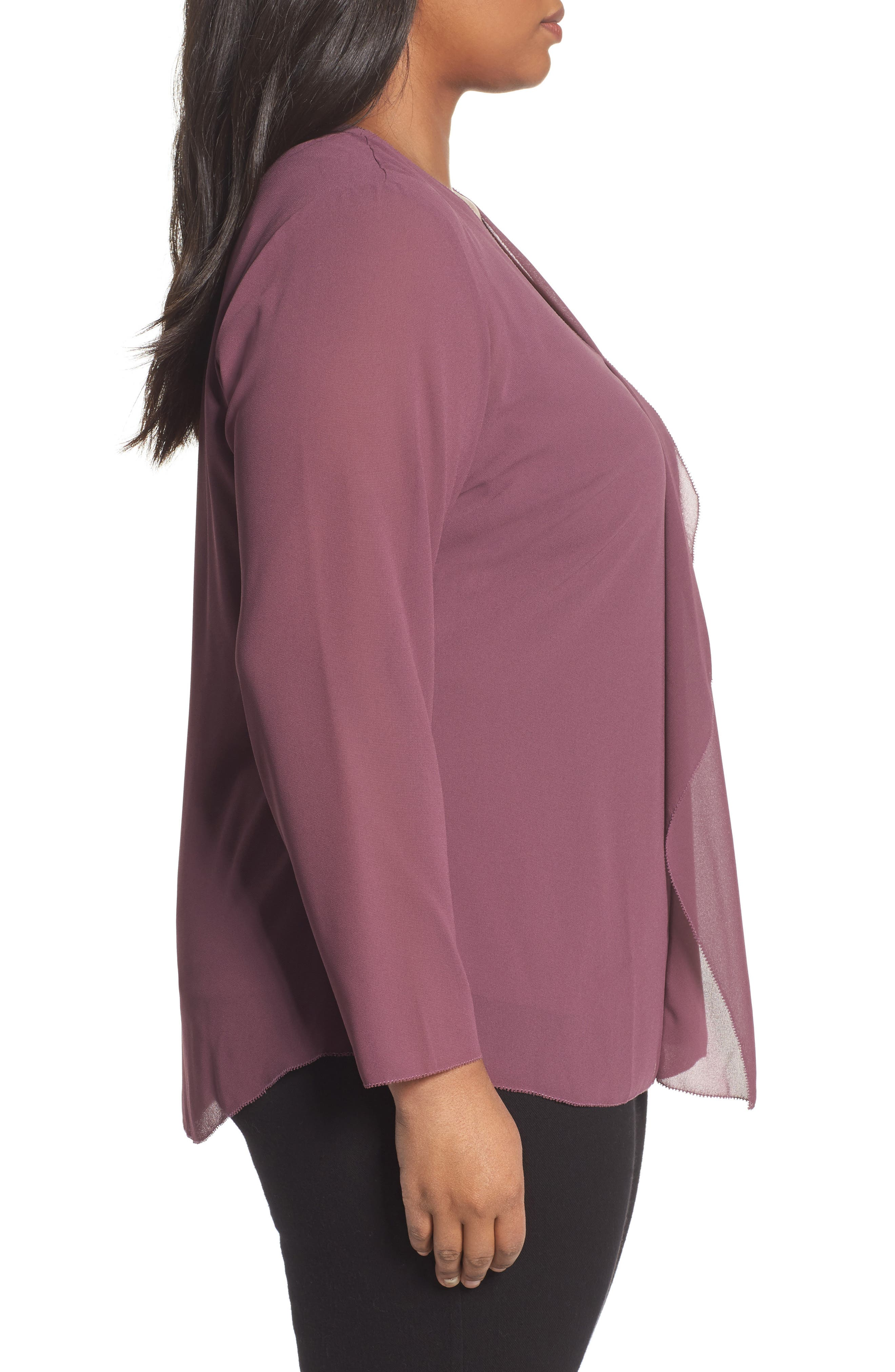 Alternate Image 3  - Foxcroft Ashleigh Chiffon Top (Plus Size)
