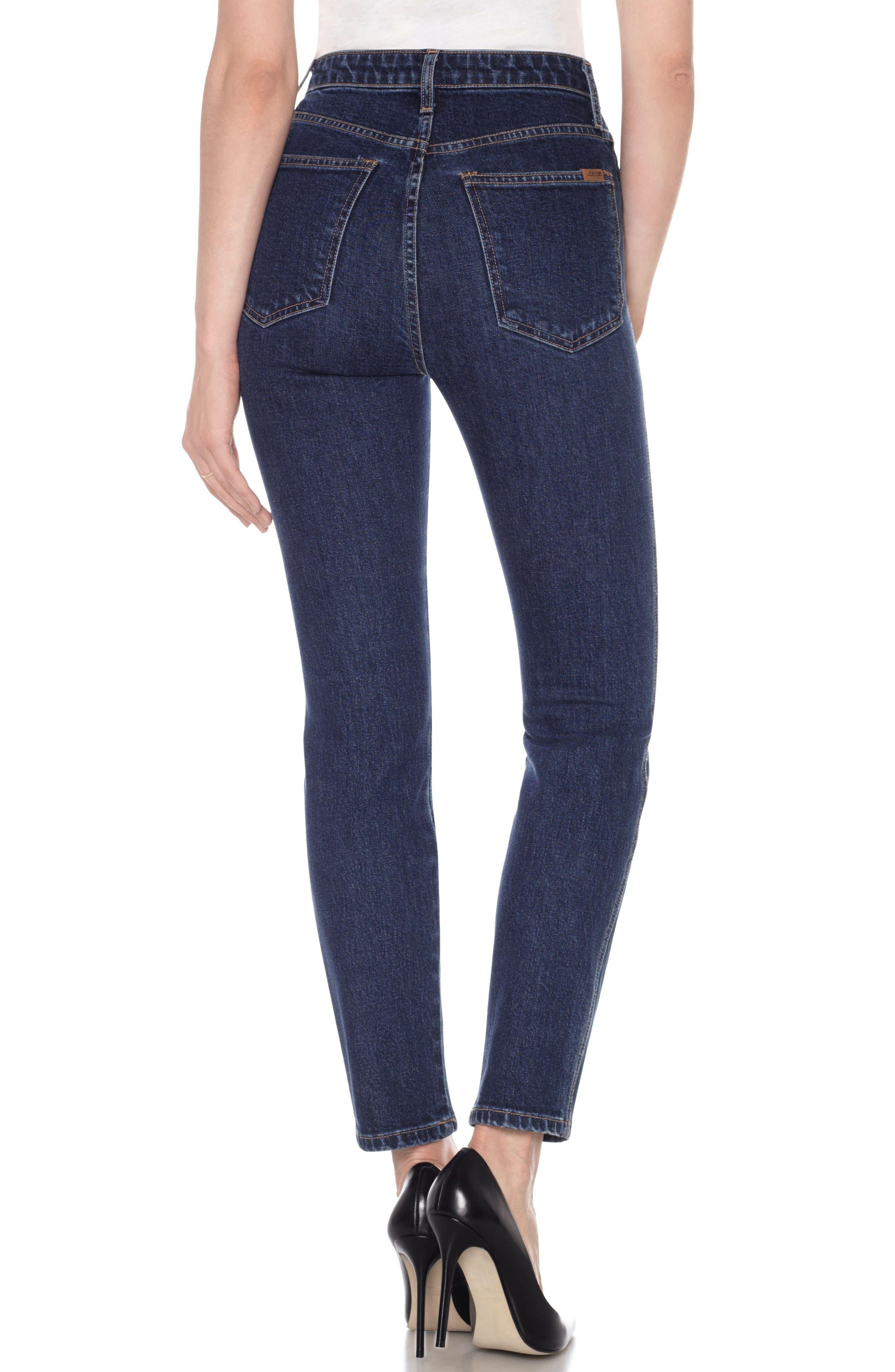 Bella High Waist Ankle Skinny Jeans,                             Alternate thumbnail 2, color,                             Blue
