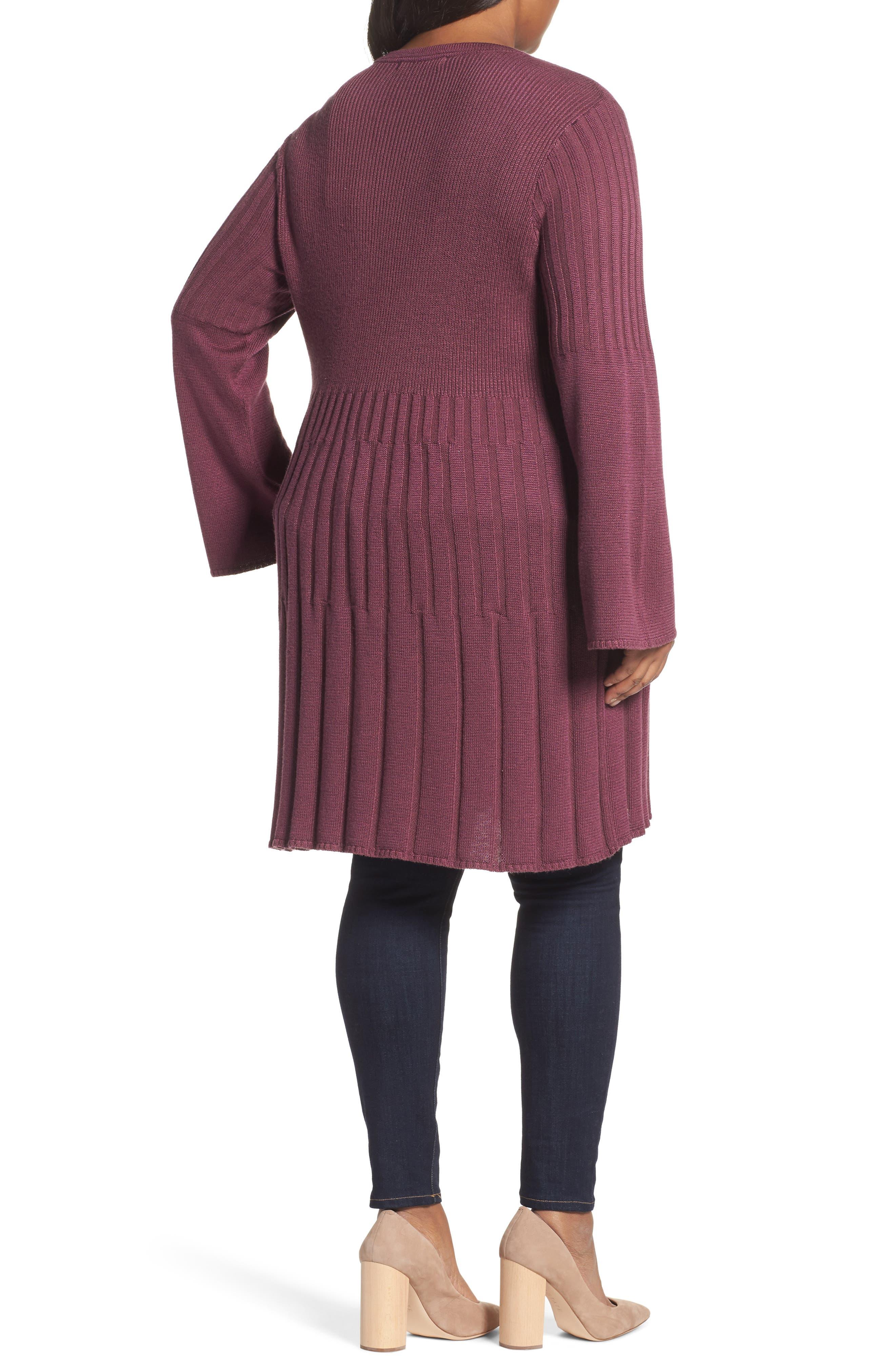 Alternate Image 2  - Foxcroft Selena Rib Cardigan (Plus Size)