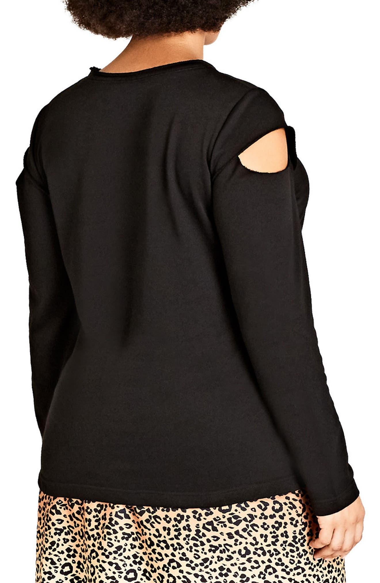 Alternate Image 2  - City Chic Street Vibe Sweatshirt (Plus Size)