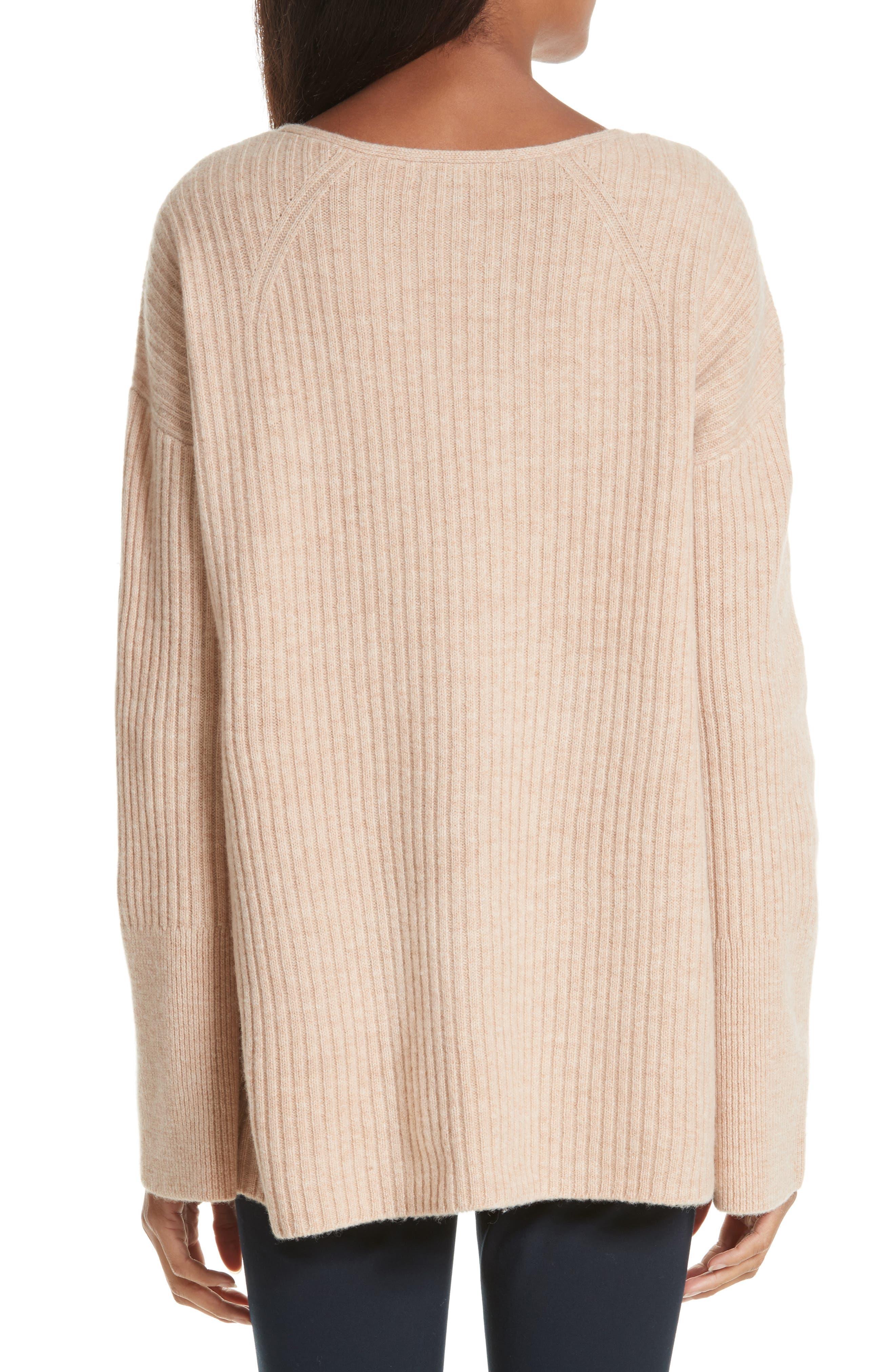 Mitchell Merino Wool Sweater,                             Alternate thumbnail 2, color,                             Oat