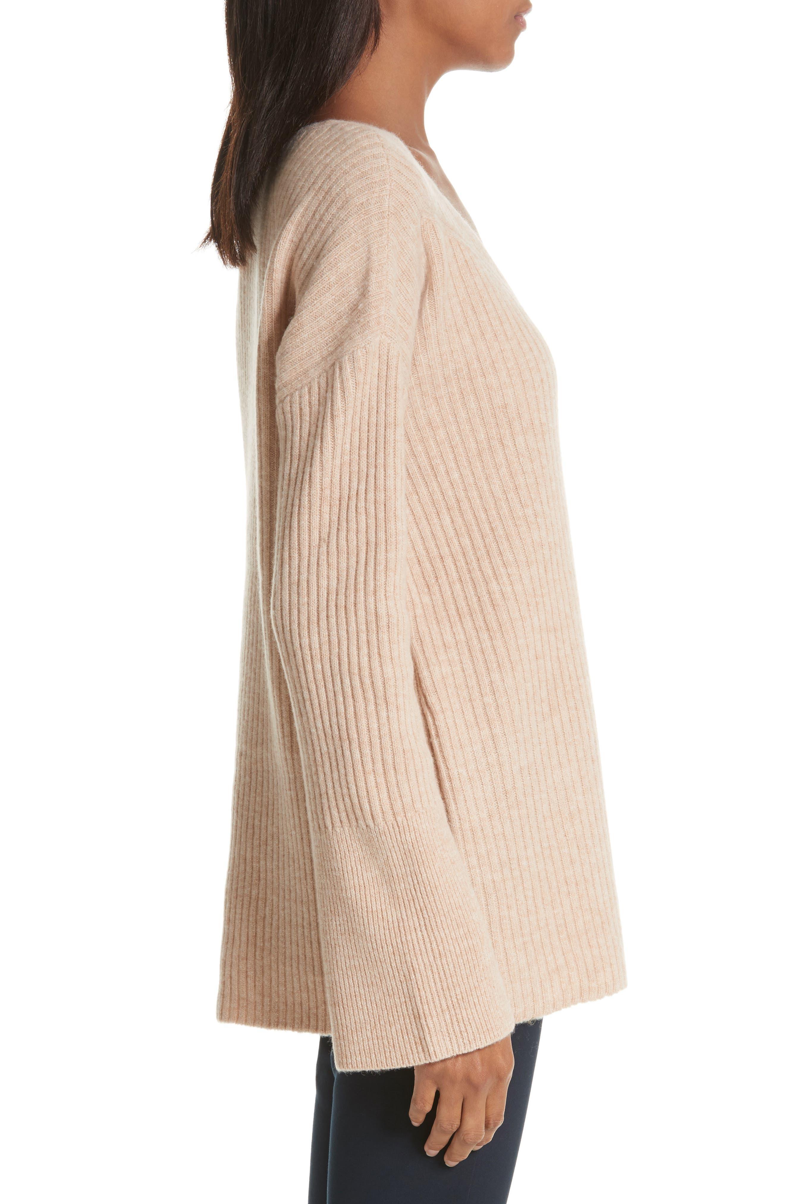 Mitchell Merino Wool Sweater,                             Alternate thumbnail 3, color,                             Oat