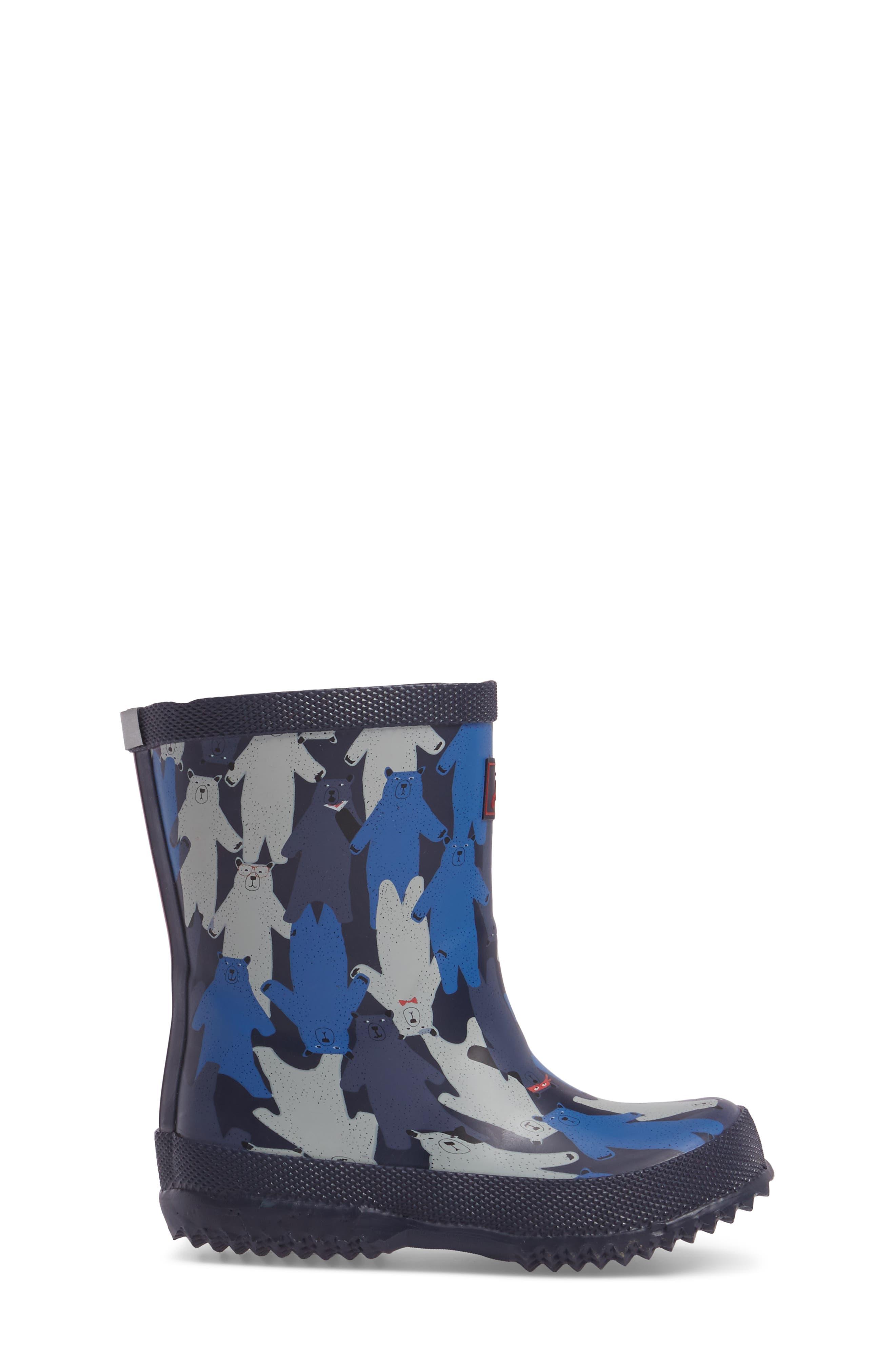 Printed Waterproof Rain Boot,                             Alternate thumbnail 3, color,                             Multi Bear Camo
