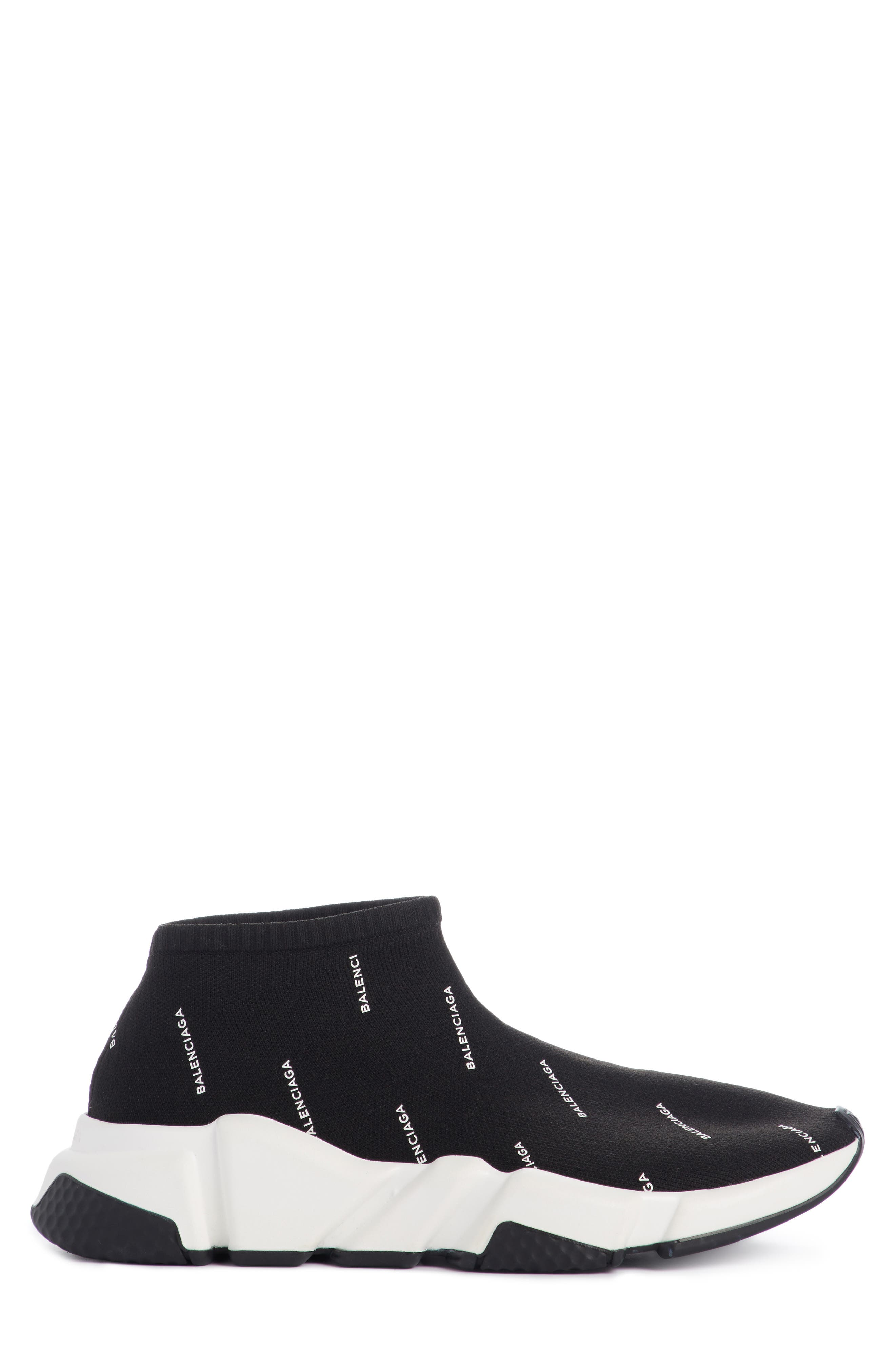 Low Speed Sneaker,                             Alternate thumbnail 4, color,                             Black/ White