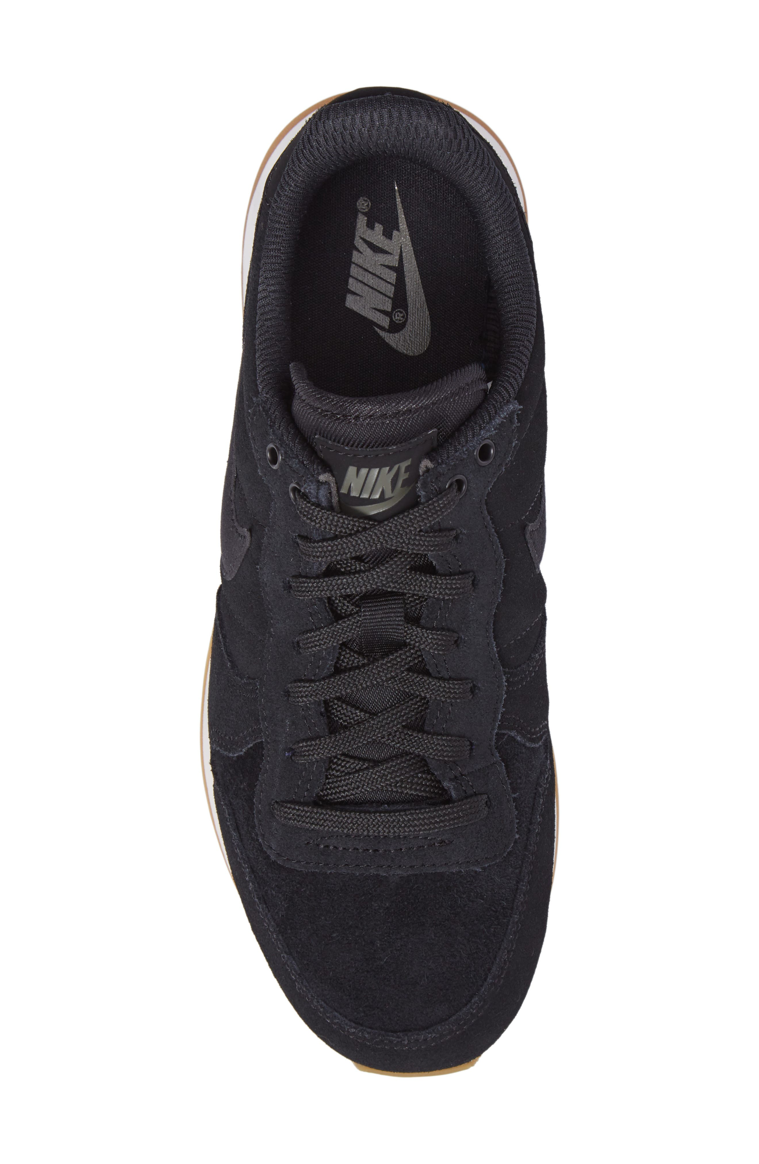 Internationalist SE Sneaker,                             Alternate thumbnail 5, color,                             Black/ Black/ Green/ Brown