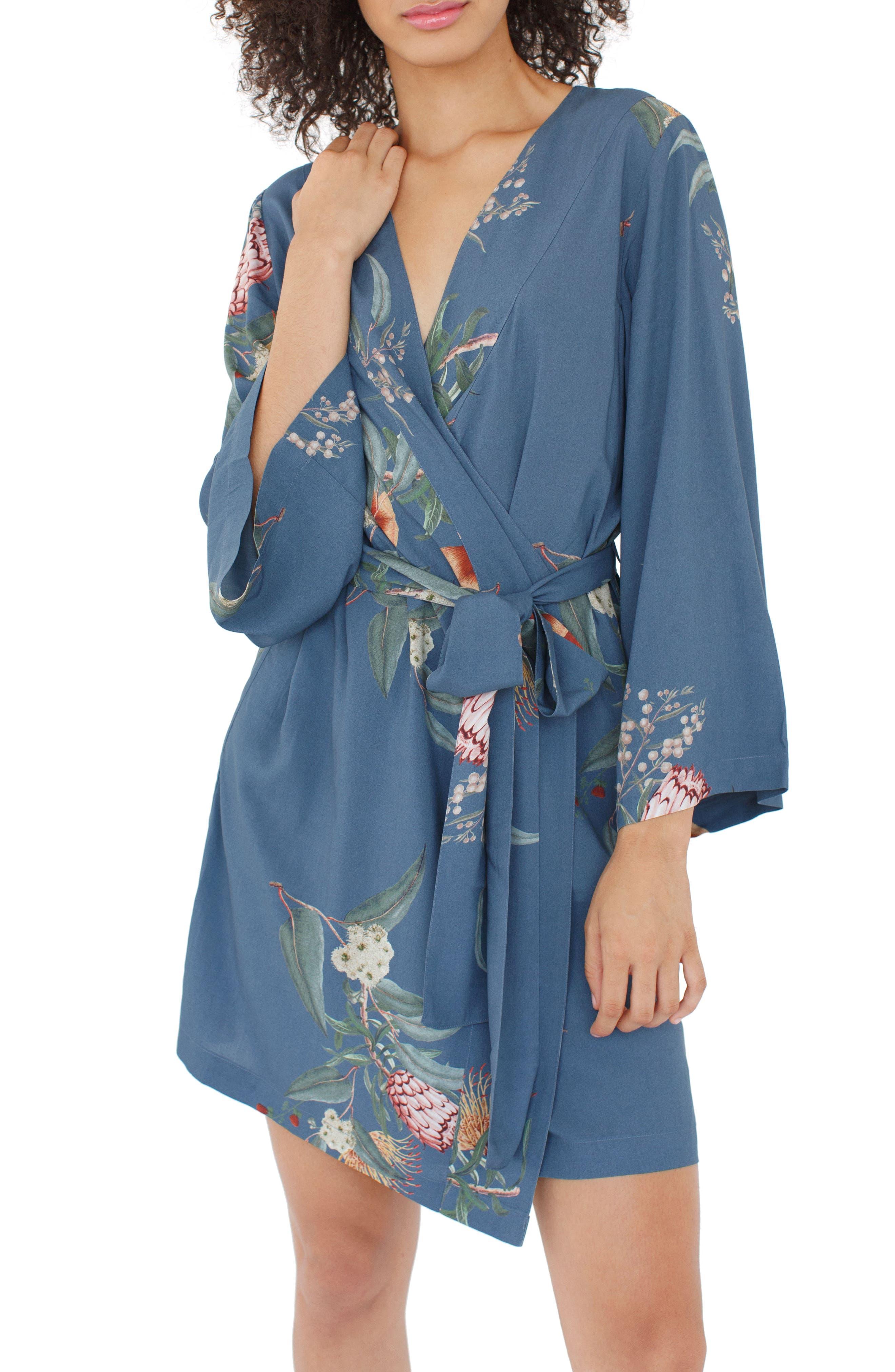 Alternate Image 3  - Plum Pretty Sugar Floral Kimono Robe