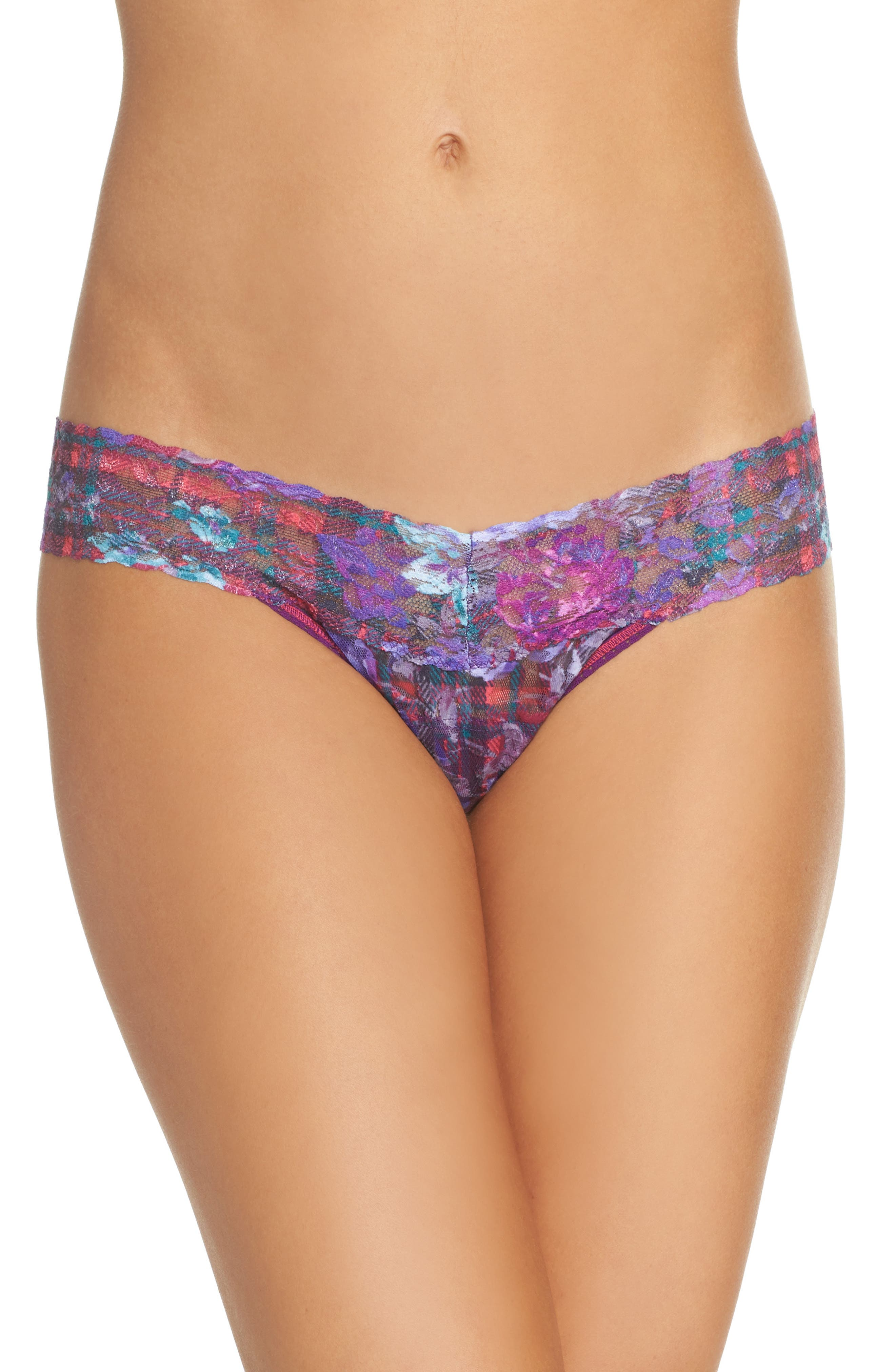 Highland Garden Low Rise Thong,                         Main,                         color, Multi