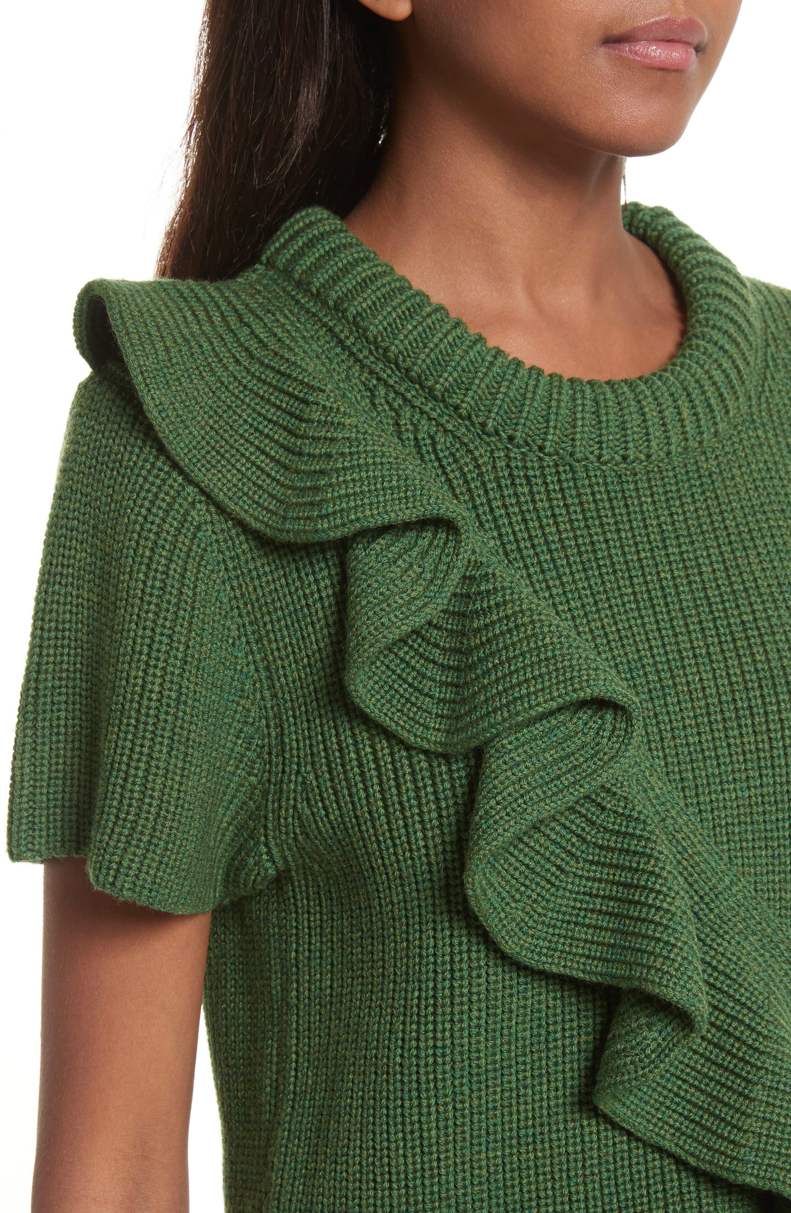 Alternate Image 4  - Sea Ruffle Wool Sweater