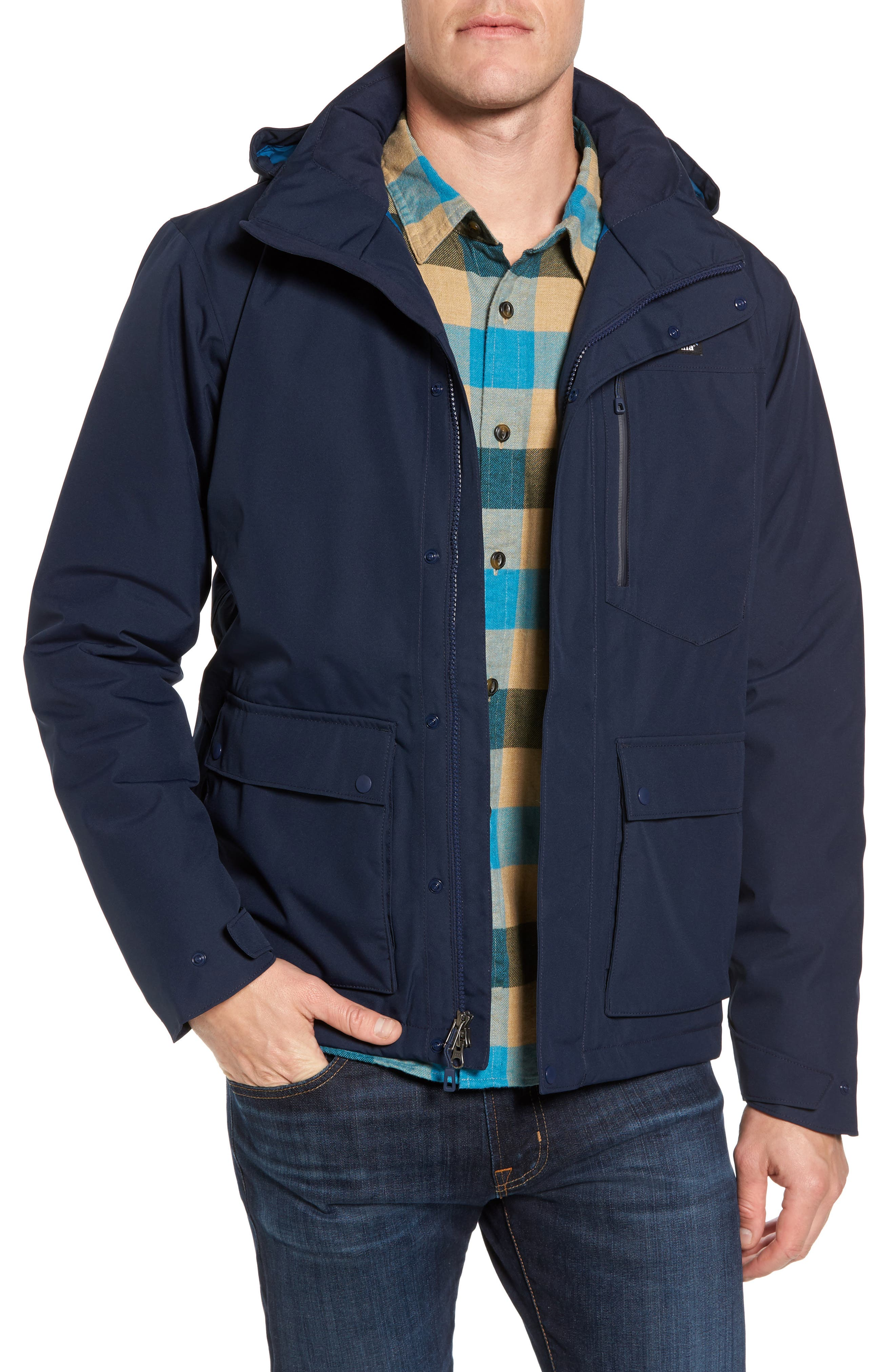 Topley Waterproof Jacket,                         Main,                         color, Navy Blue