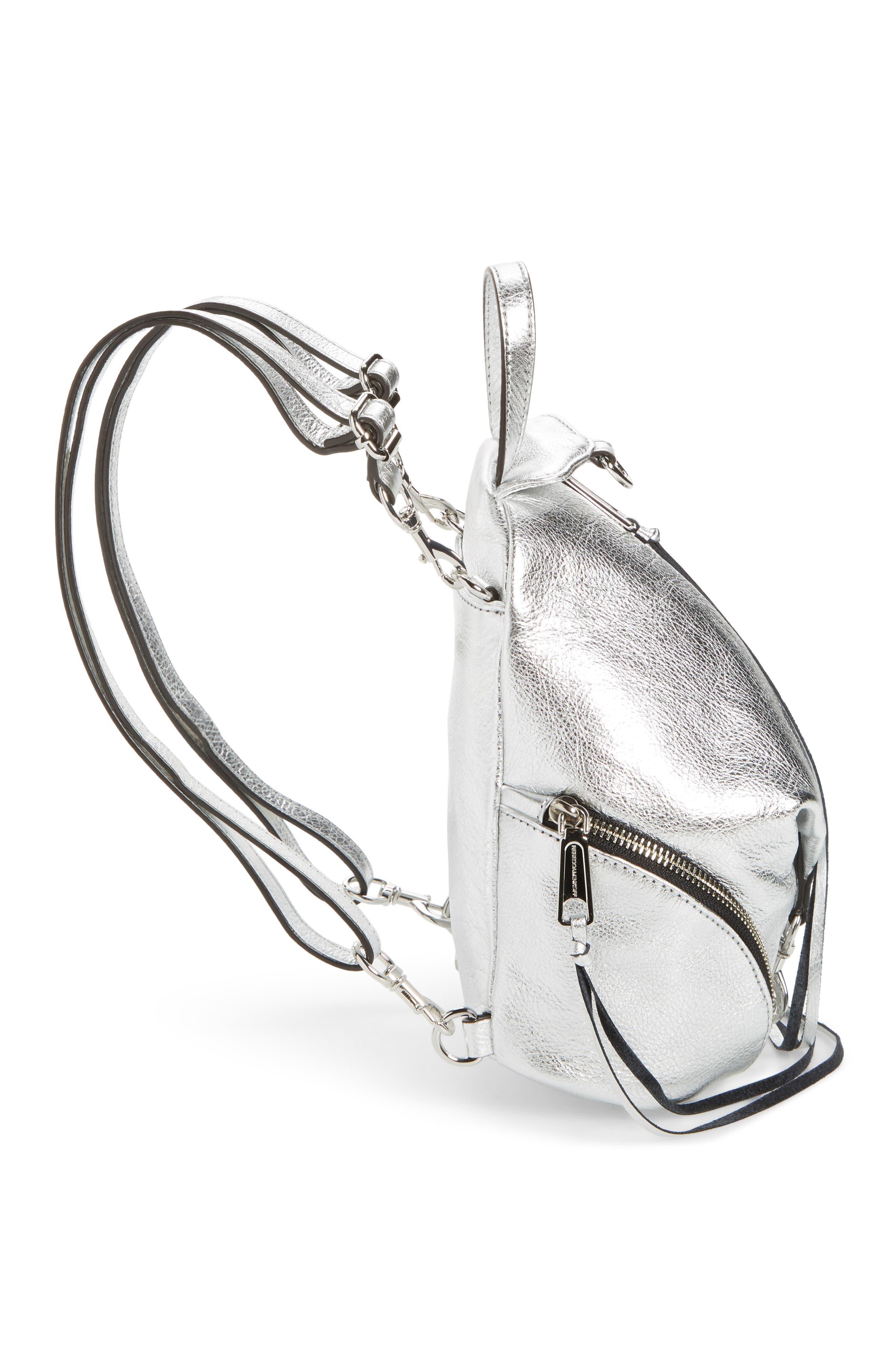 Alternate Image 5  - Rebecca Minkoff Mini Julian Metallic Leather Backpack