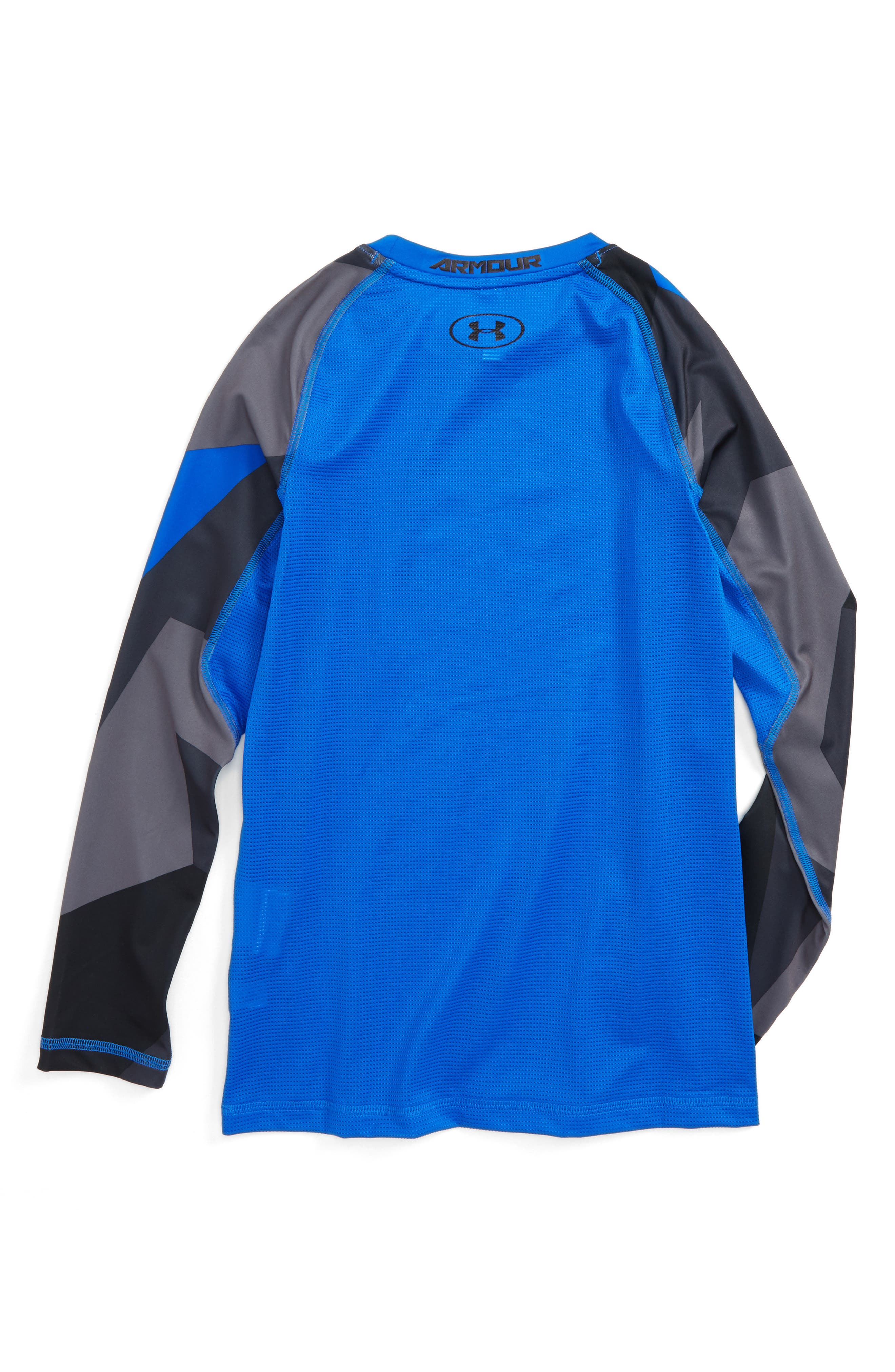 Novelty HeatGear<sup>®</sup> Shirt,                             Alternate thumbnail 2, color,                             Ultra Blue/ Black