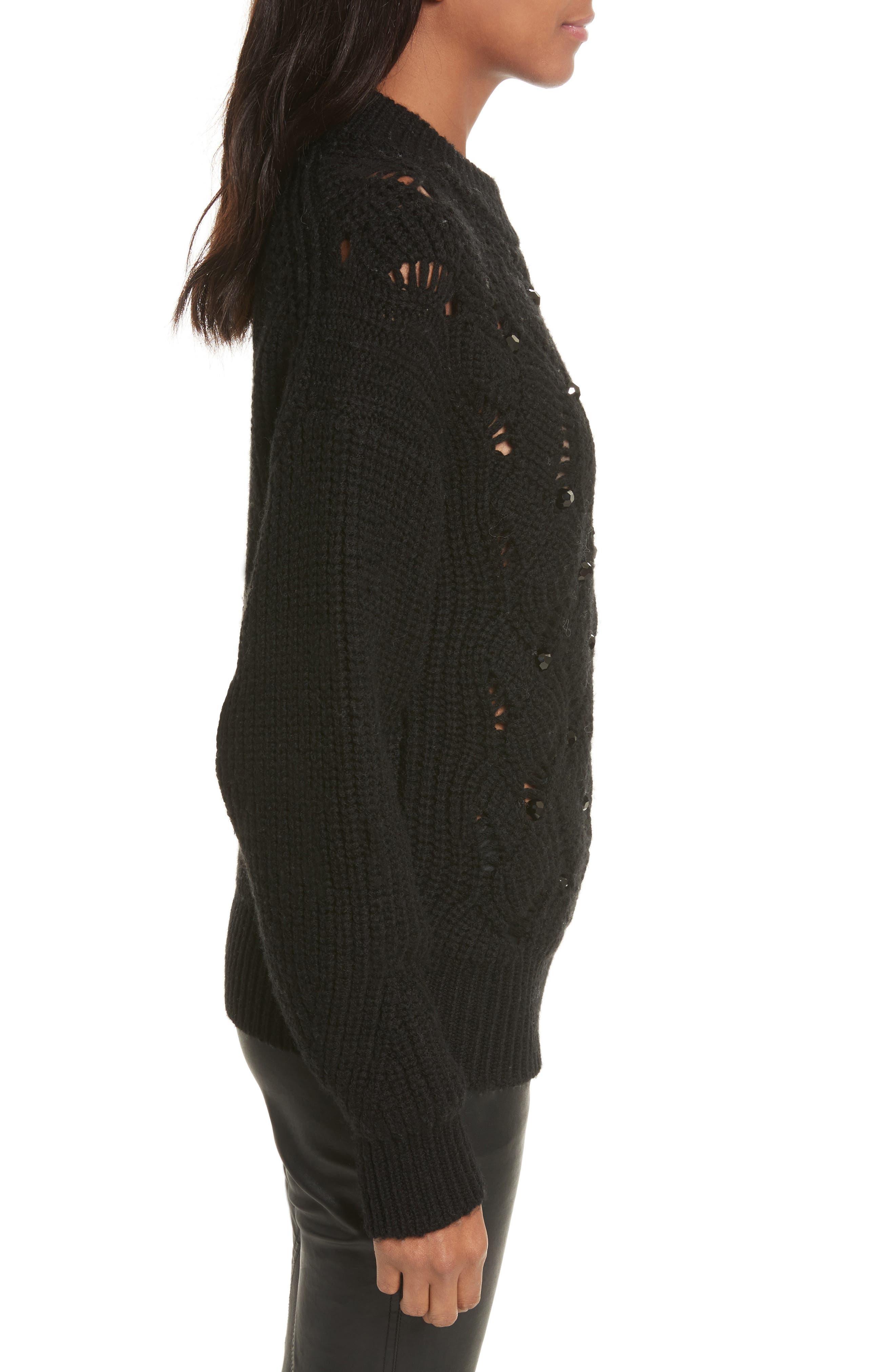 Alternate Image 3  - Rebecca Taylor Embellished Wool Blend Sweater