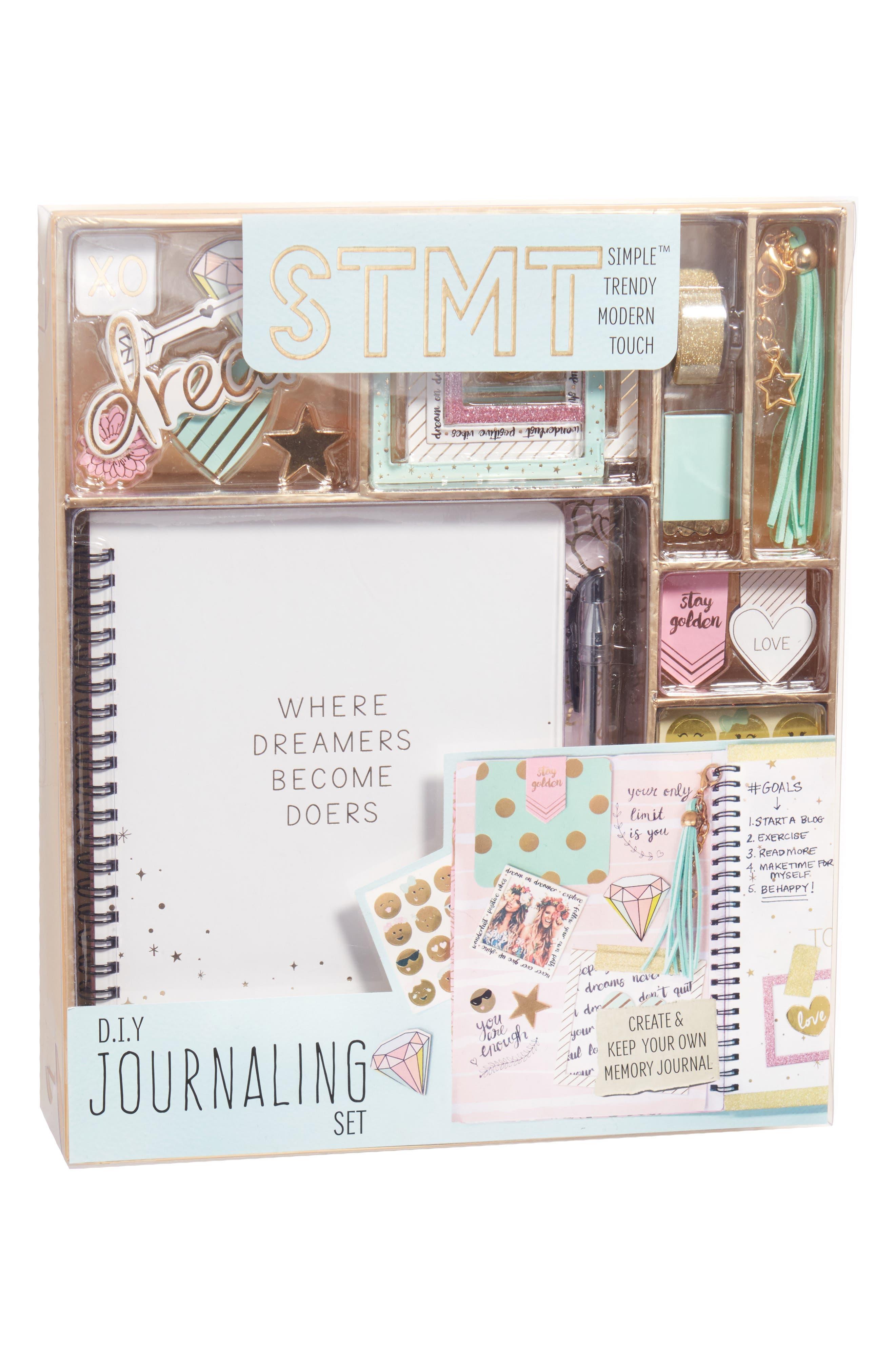 DIY Journaling Kit,                             Alternate thumbnail 3, color,                             Blue Multi