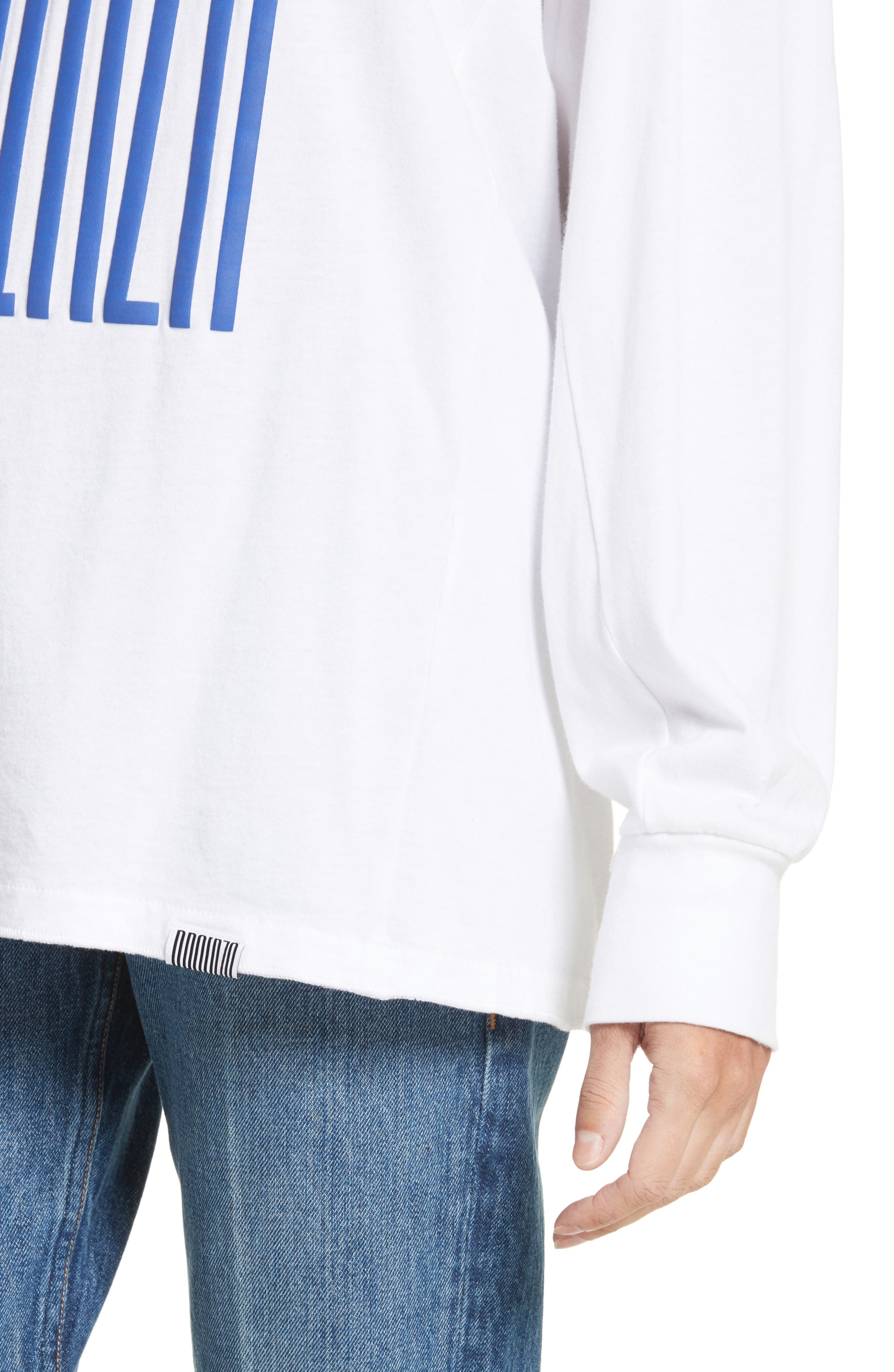 PSWL Graphic Jersey Tee,                             Alternate thumbnail 4, color,                             Blue Proenza Schouler