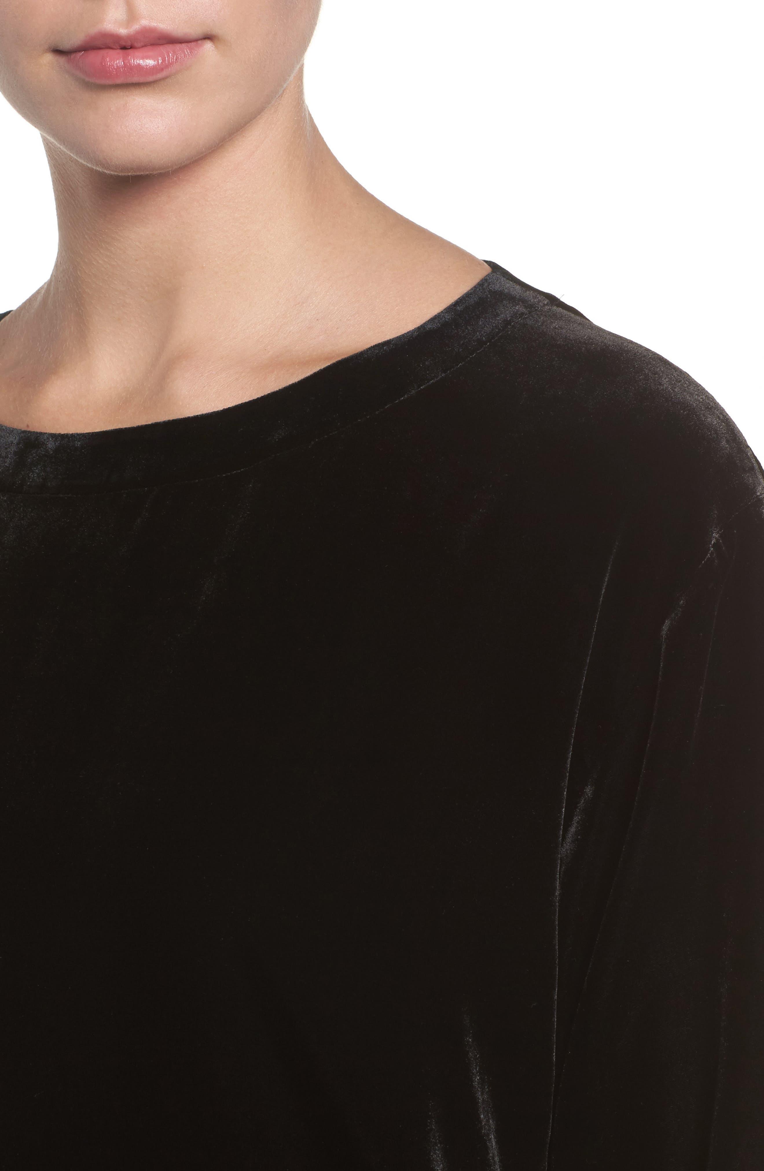 Alternate Image 4  - Eileen Fisher Boxy Velvet Top (Regular & Petite)