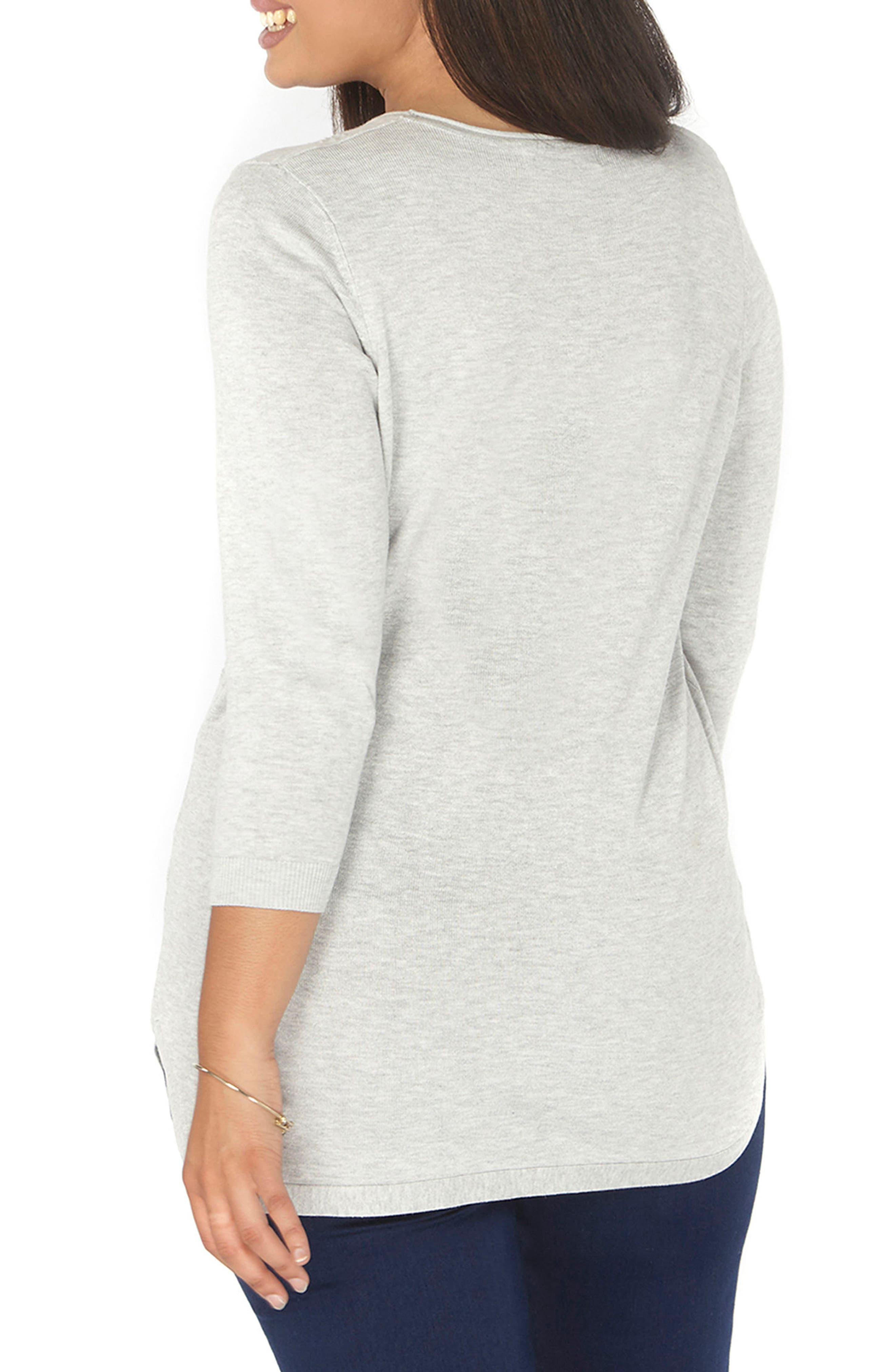 Dot Texture Sweater,                             Alternate thumbnail 2, color,                             Grey