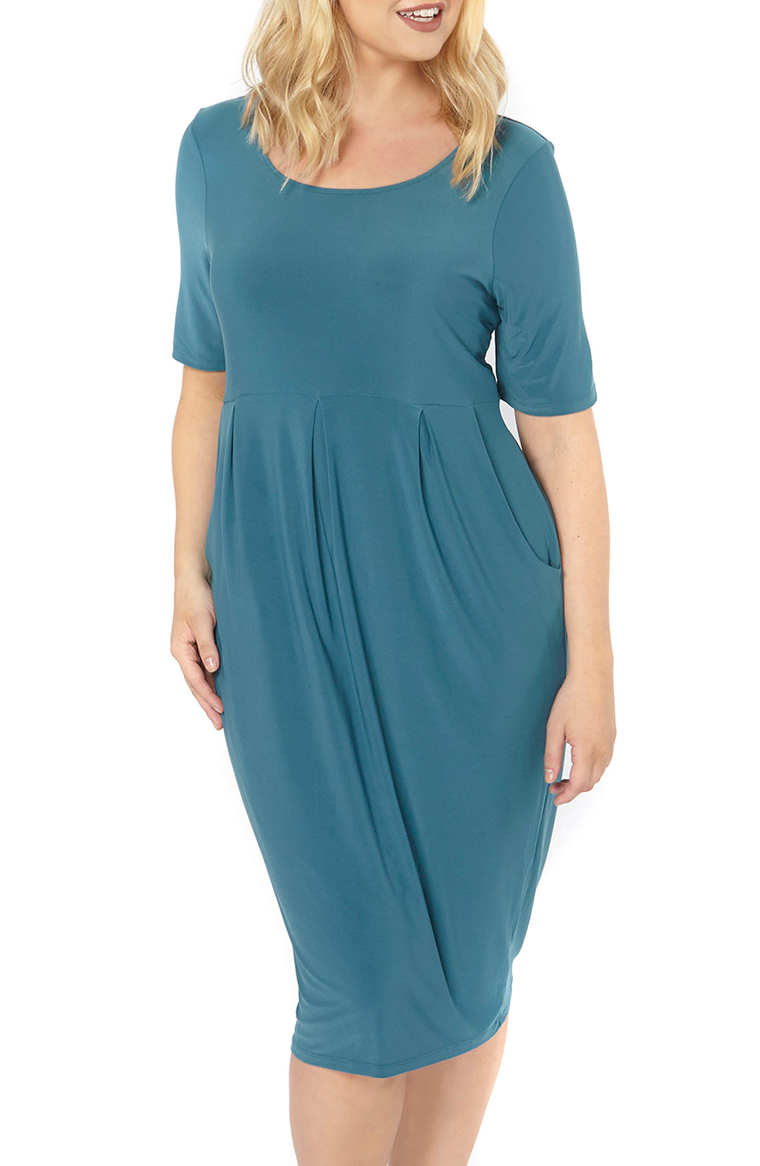Pocket Dress,                             Main thumbnail 1, color,                             Green