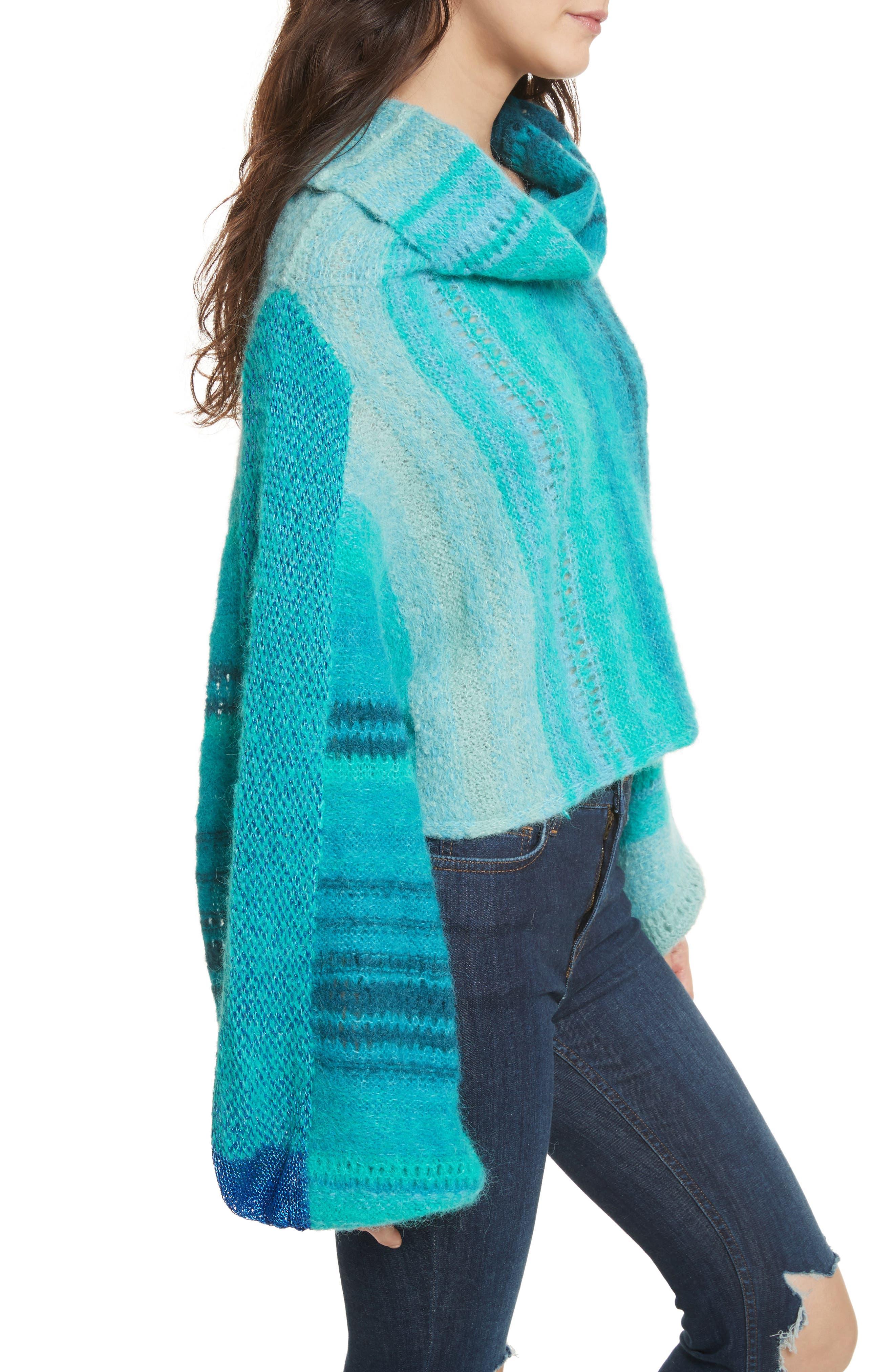 Cloud Kicker Sweater,                             Alternate thumbnail 3, color,                             Blue Combo