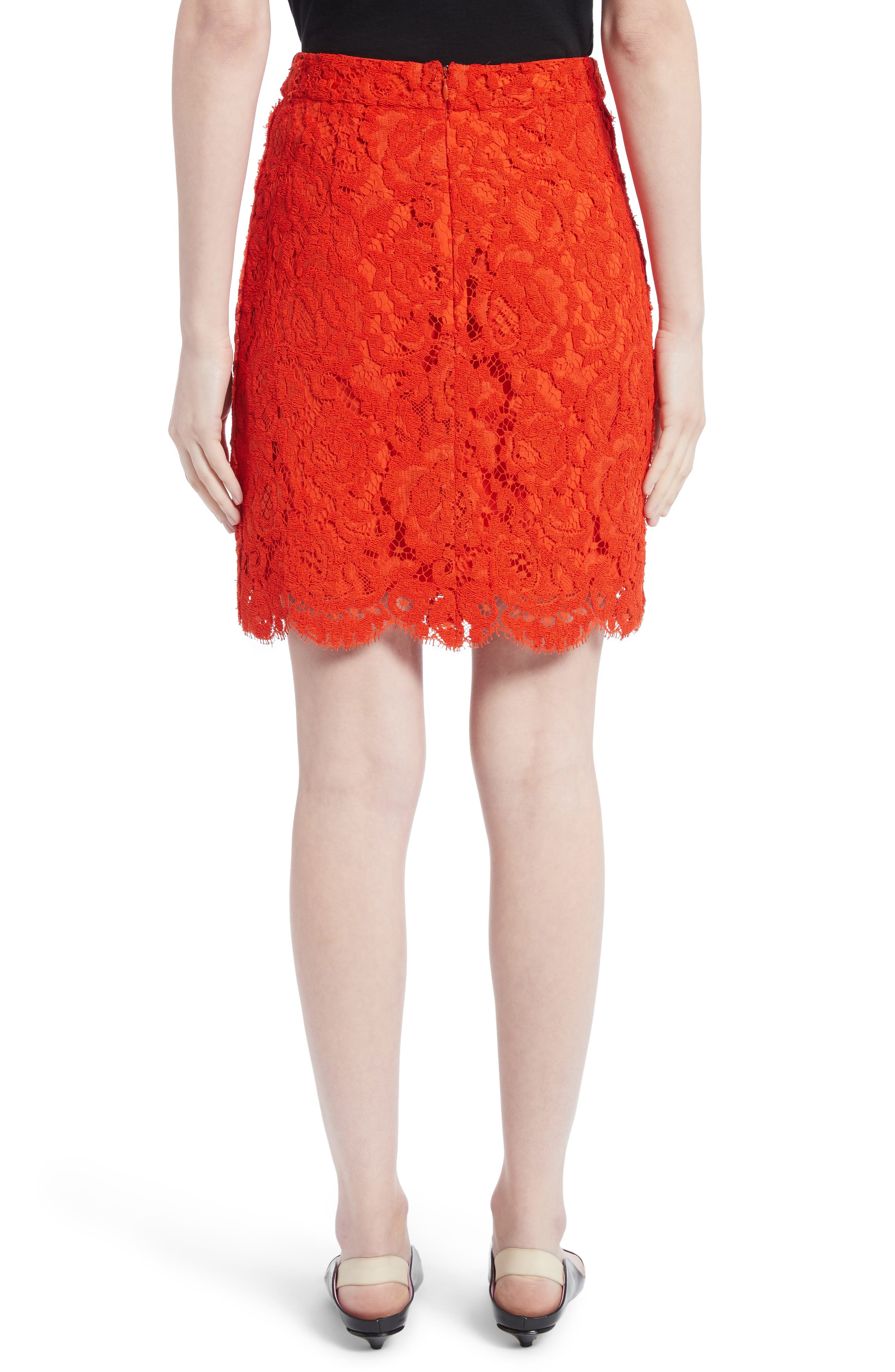 Corded Lace Miniskirt,                             Alternate thumbnail 2, color,                             Coral