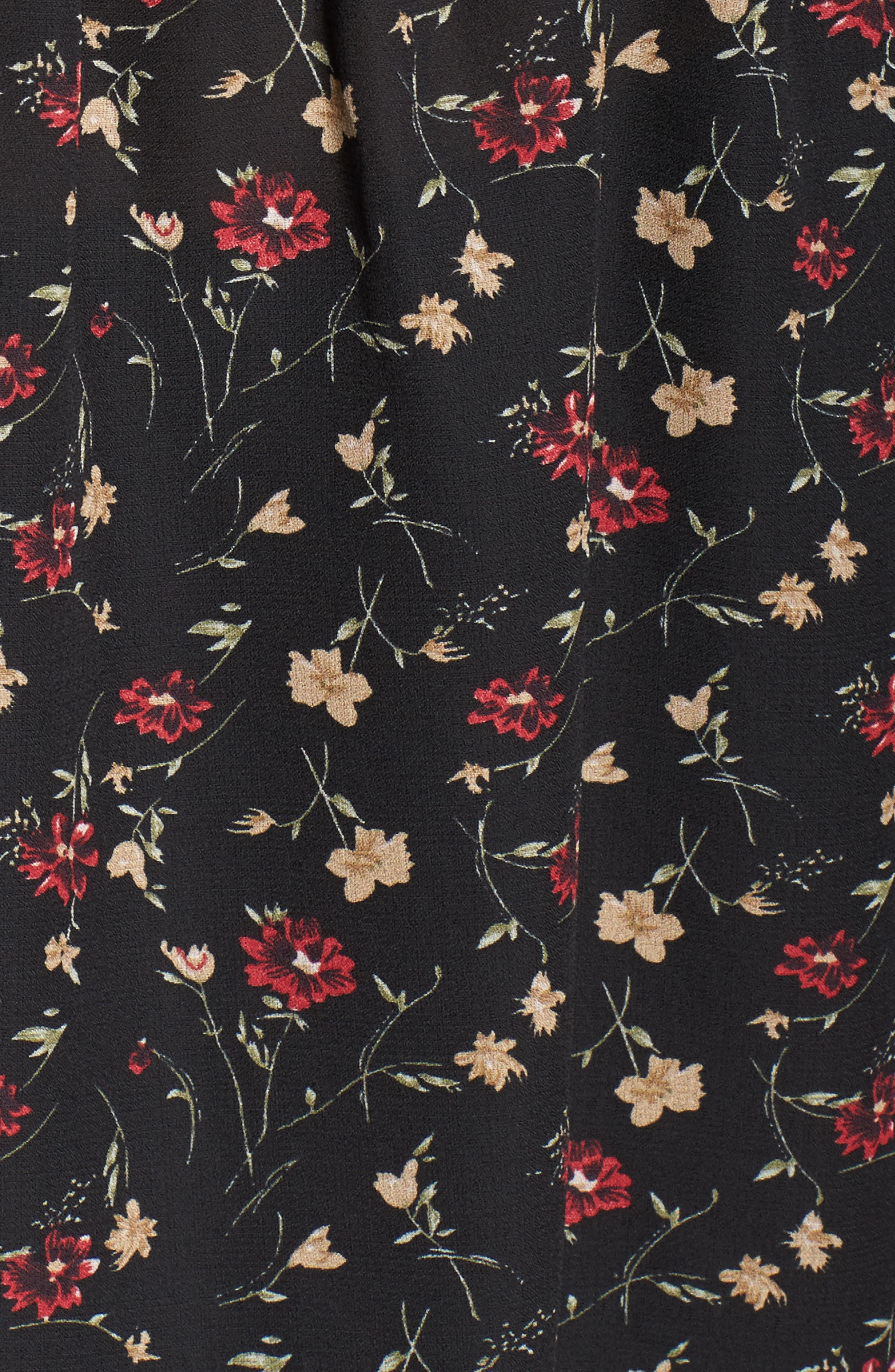 Velvet Tie Floral Blouse,                             Alternate thumbnail 5, color,                             Multi