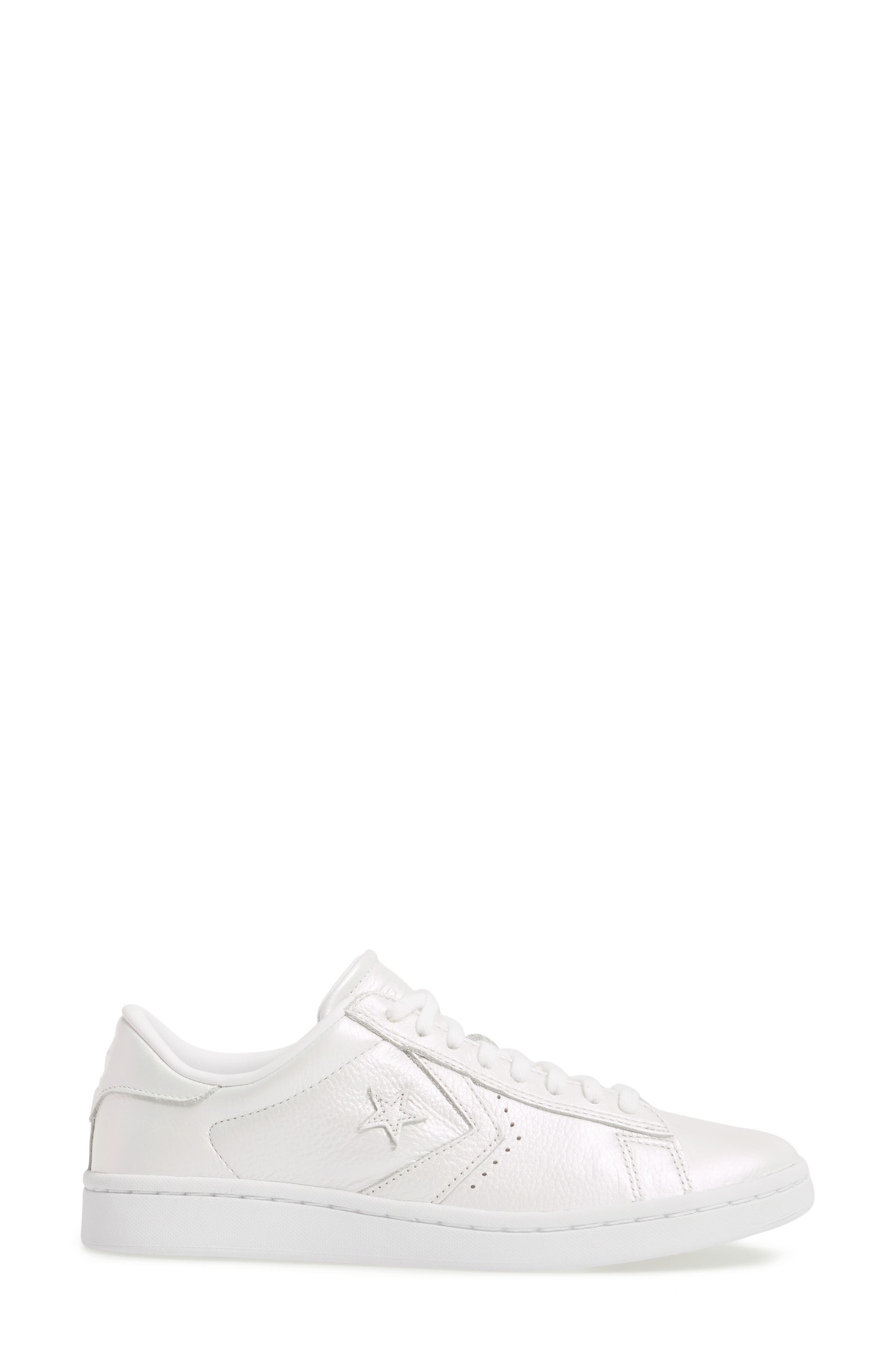 Pro Leather LP Sneaker,                             Alternate thumbnail 3, color,                             White Leather
