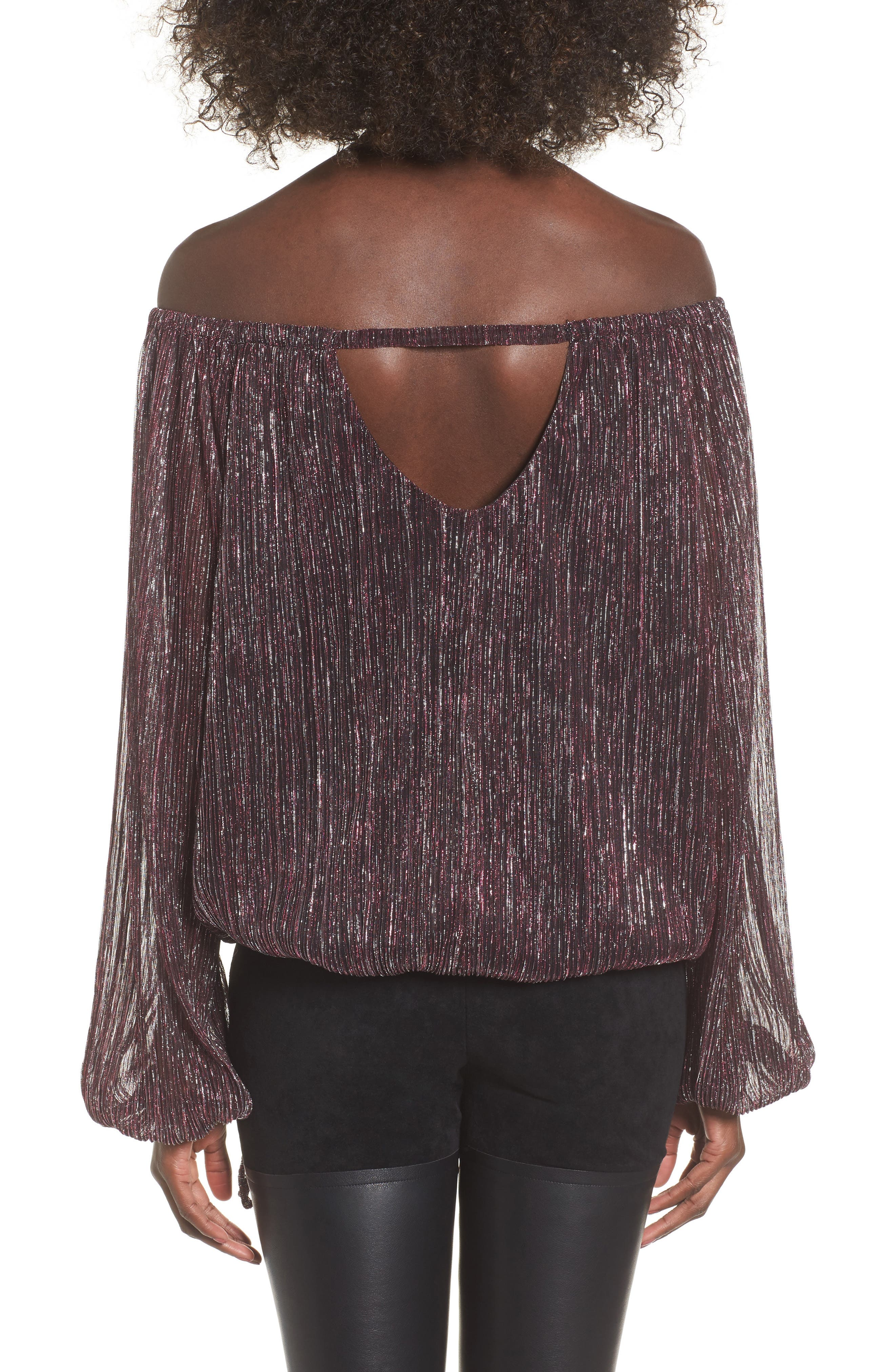Felicia Off the Shoulder Blouse,                             Alternate thumbnail 2, color,                             Multi