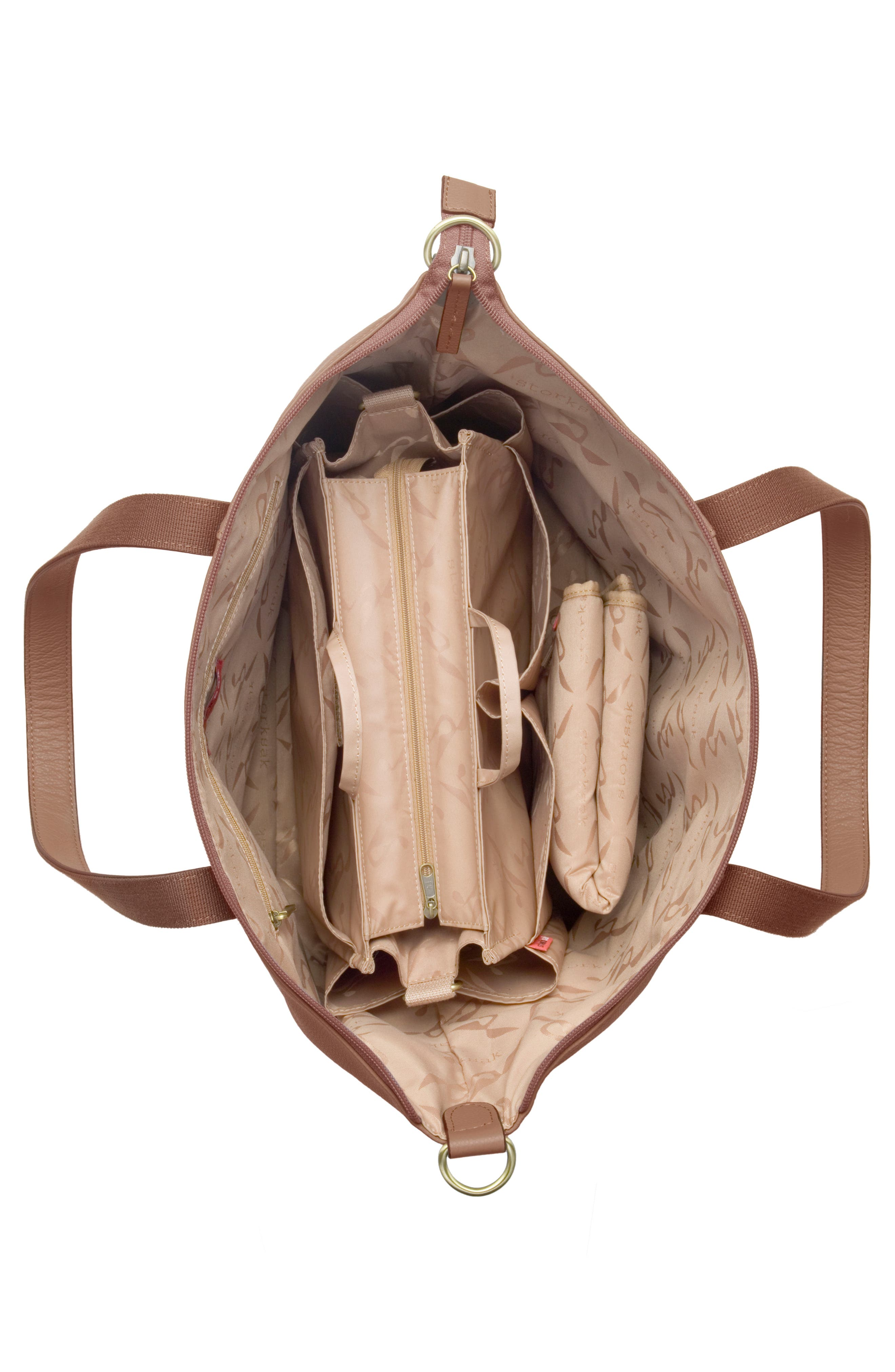 Alternate Image 3  - Storksak NOA Leather Diaper Bag