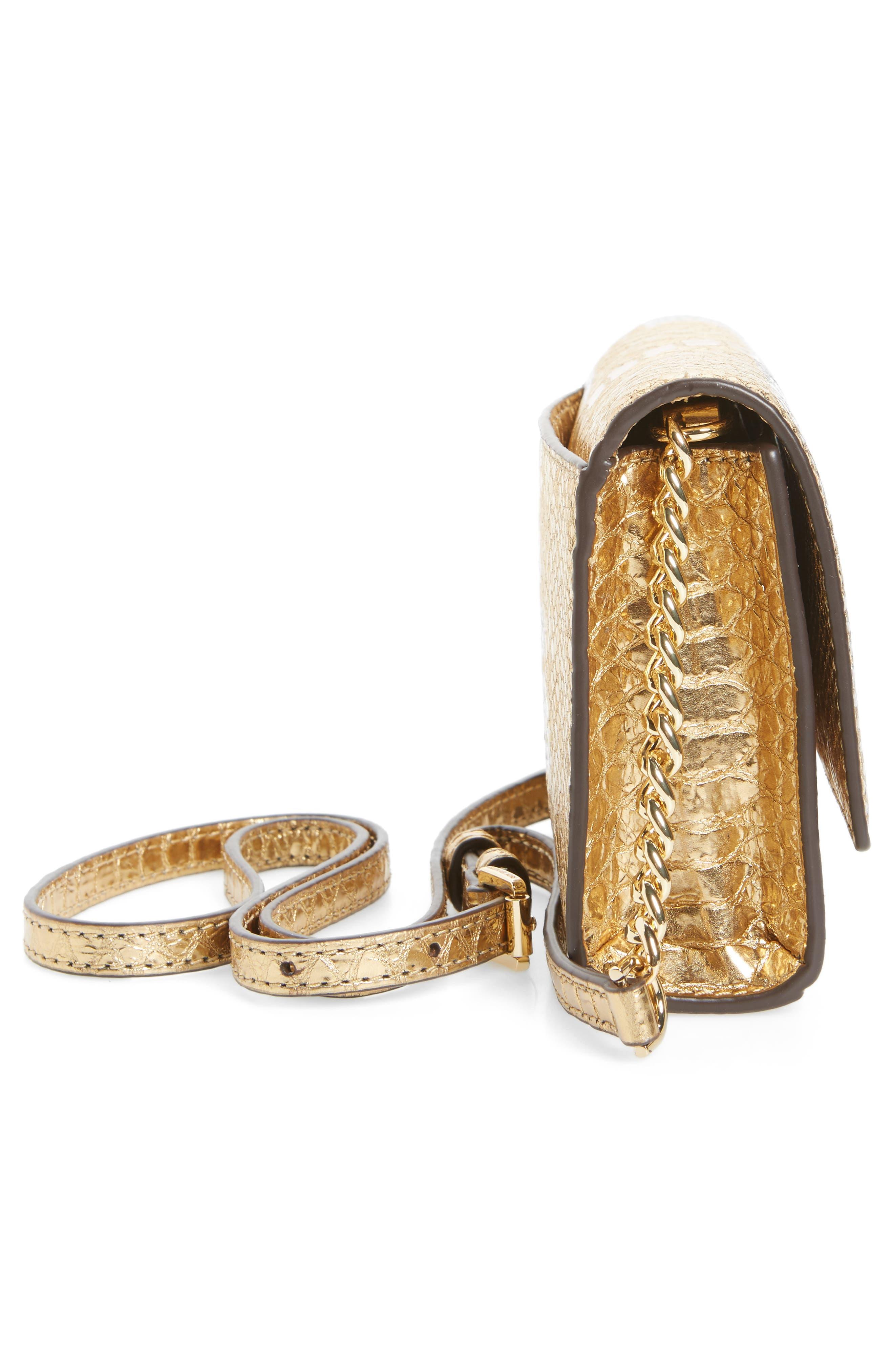 Alternate Image 5  - MICHAEL Michael Kors Medium Ruby Metallic Snake-Embossed Leather Clutch