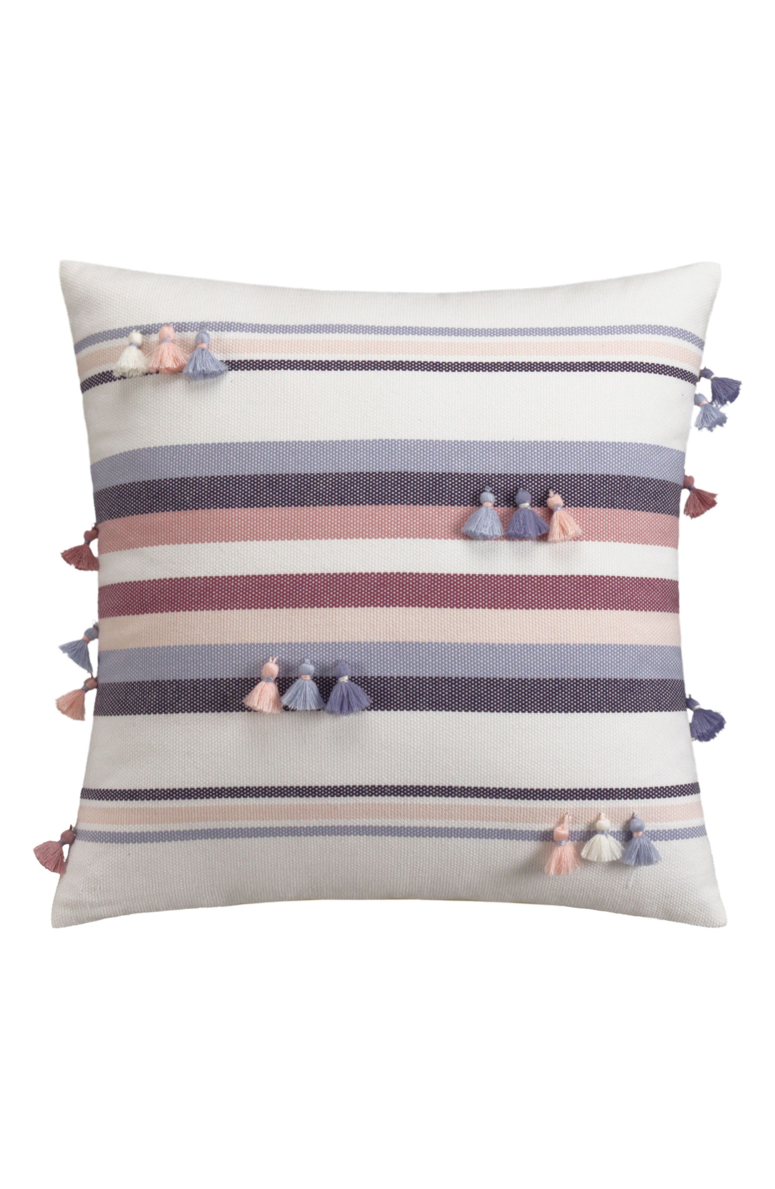 Main Image - cupcakes and cashmere Tassel Stripe Accent Pillow