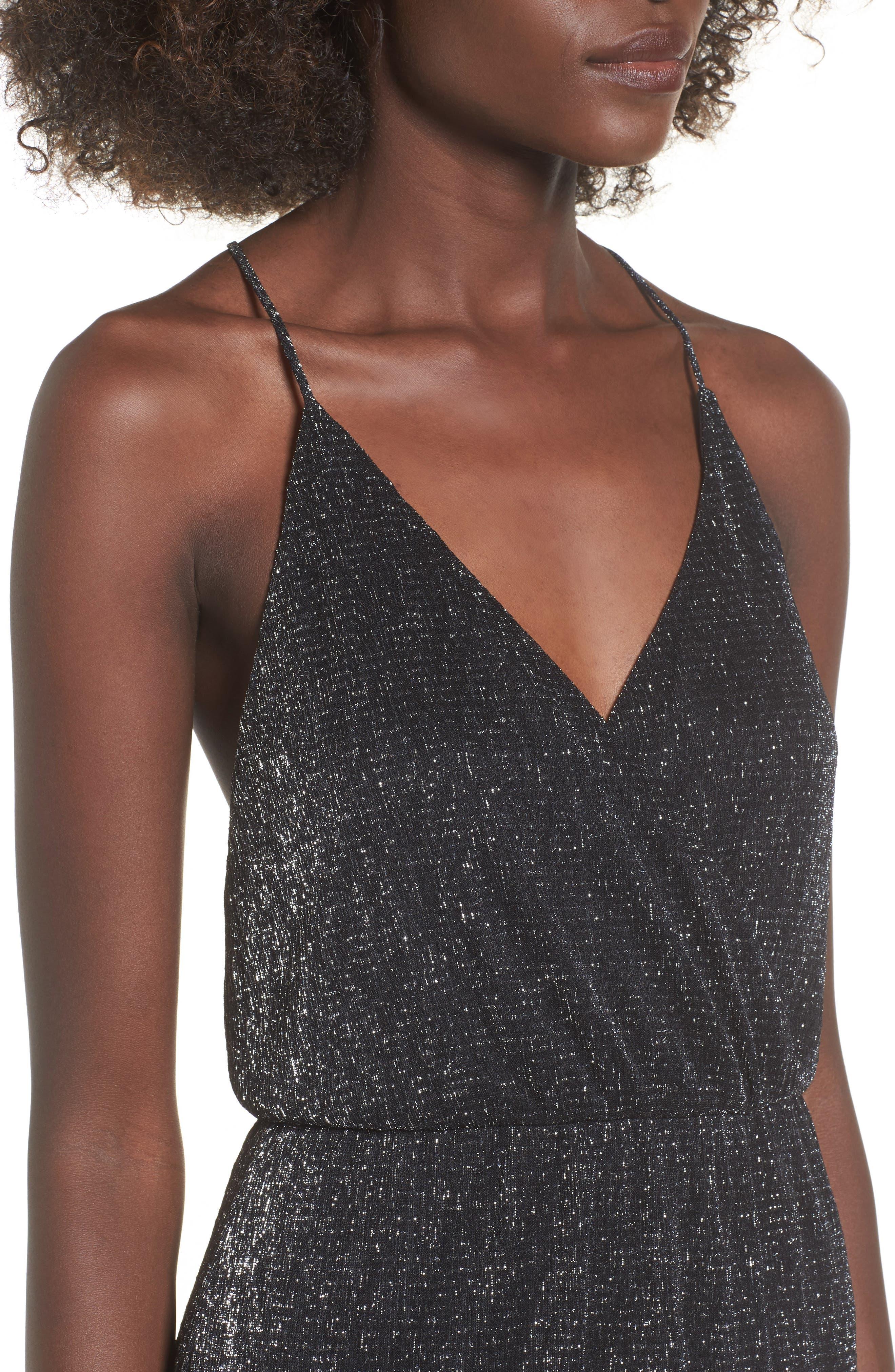Alternate Image 4  - Metallic Surplice Maxi Dress