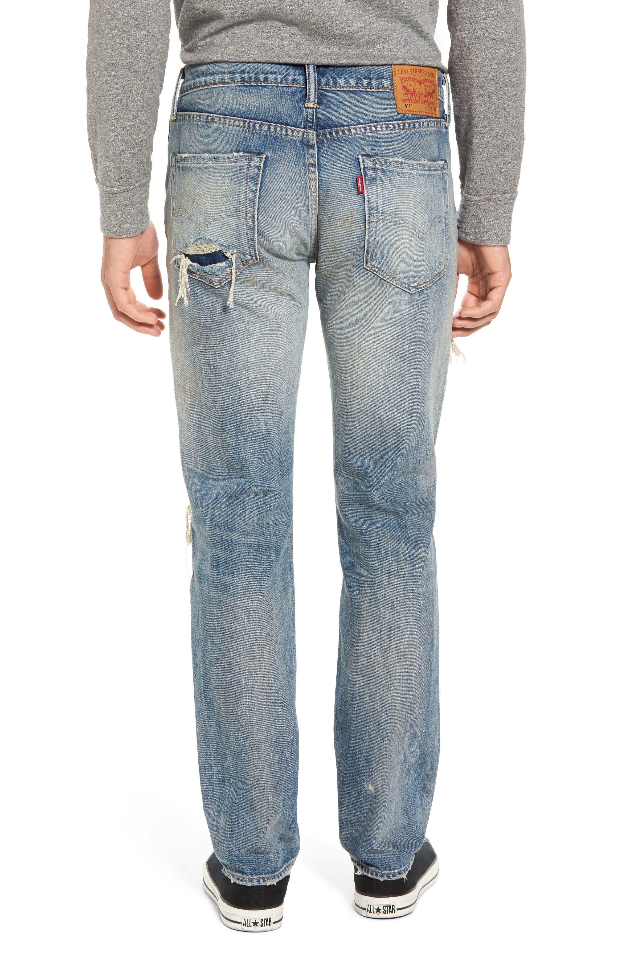 511<sup>™</sup> Slim Fit Jeans,                             Alternate thumbnail 2, color,                             Medium Blue Burn