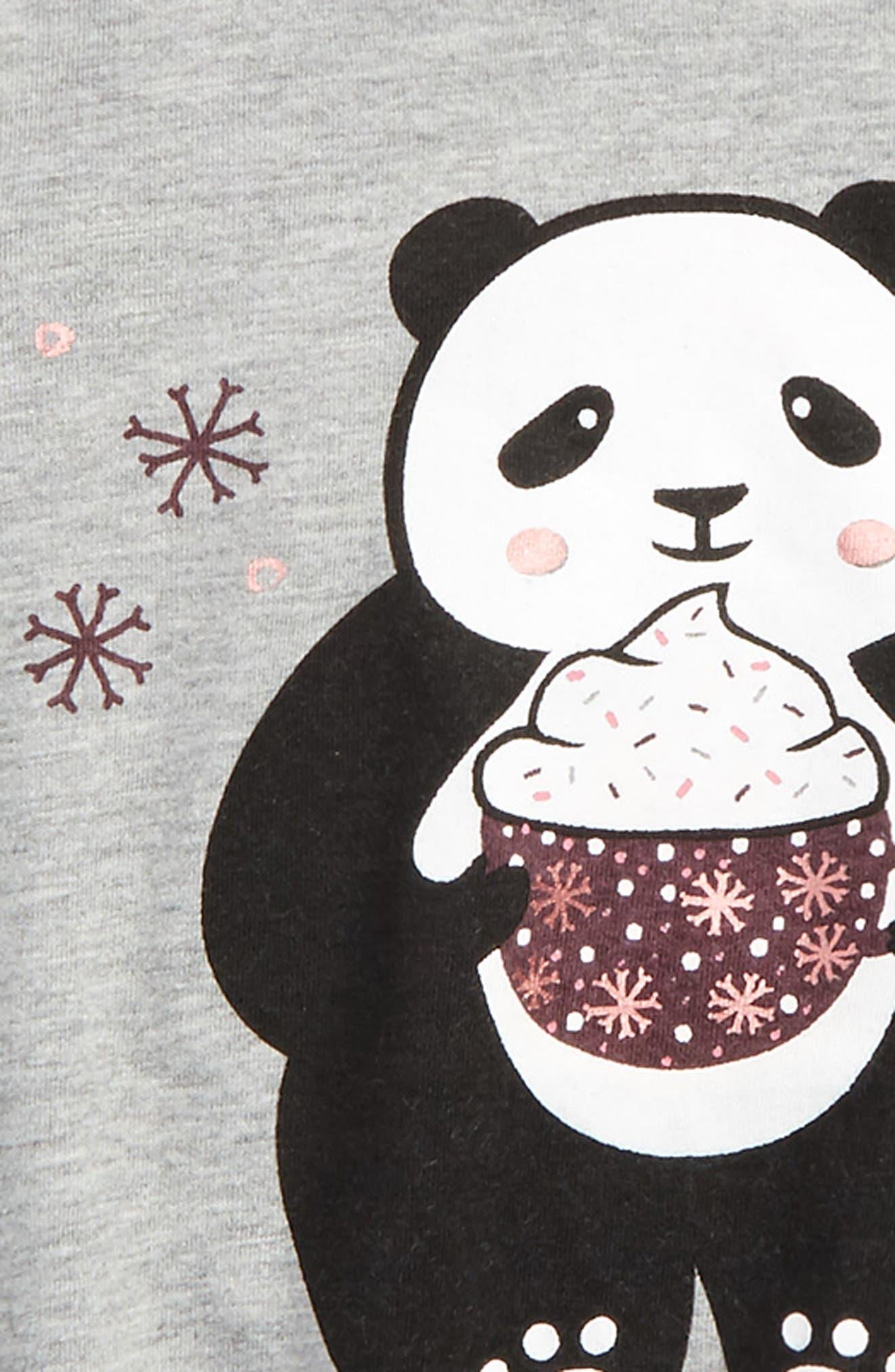 Graphic Tee,                             Alternate thumbnail 2, color,                             Grey Medium Heather Cute Panda