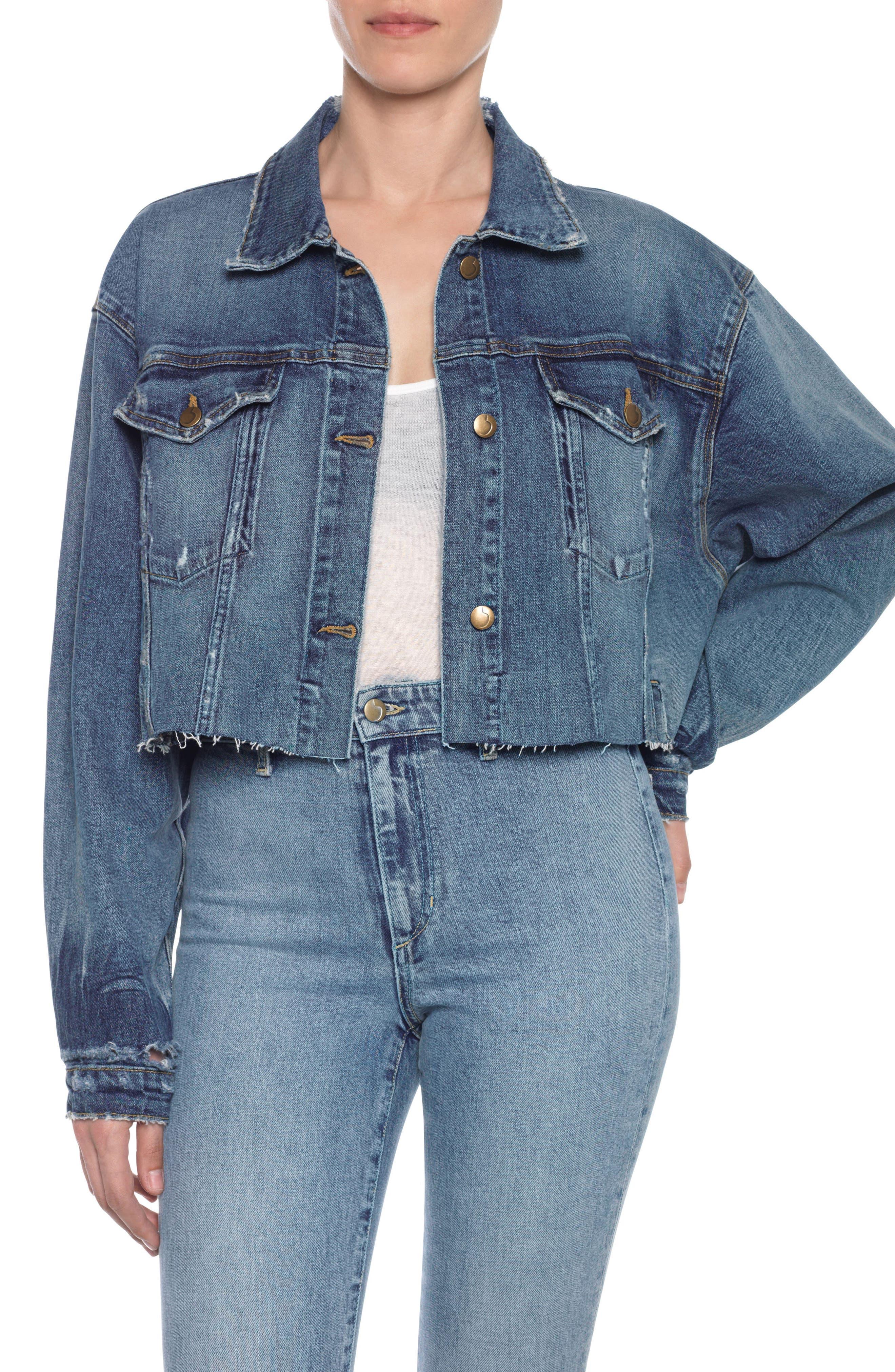 Taylor Hill x Joe's Dolman Crop Denim Jacket